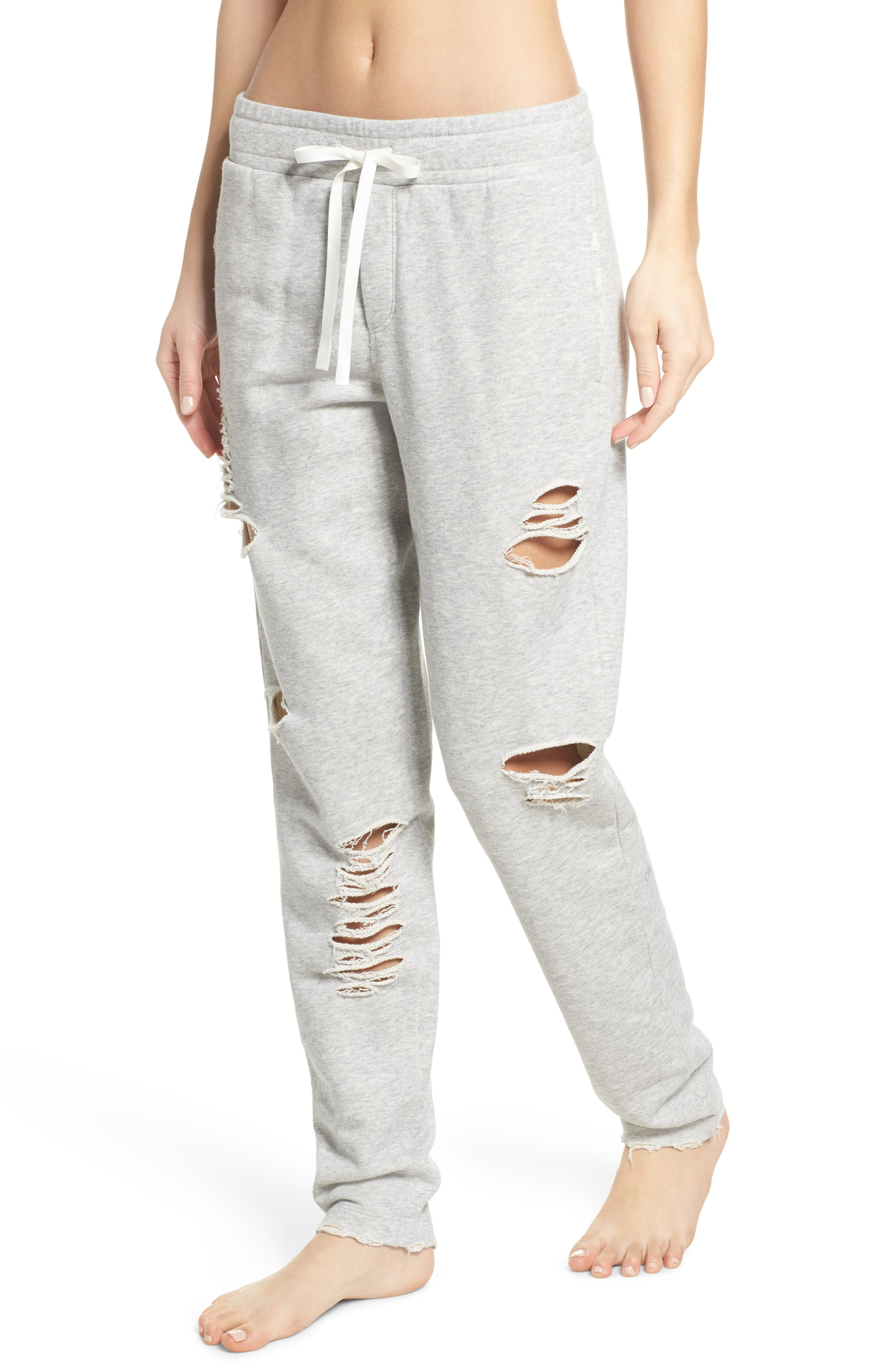 Alternate Image 1 Selected - Alo Ripped Sweatpants