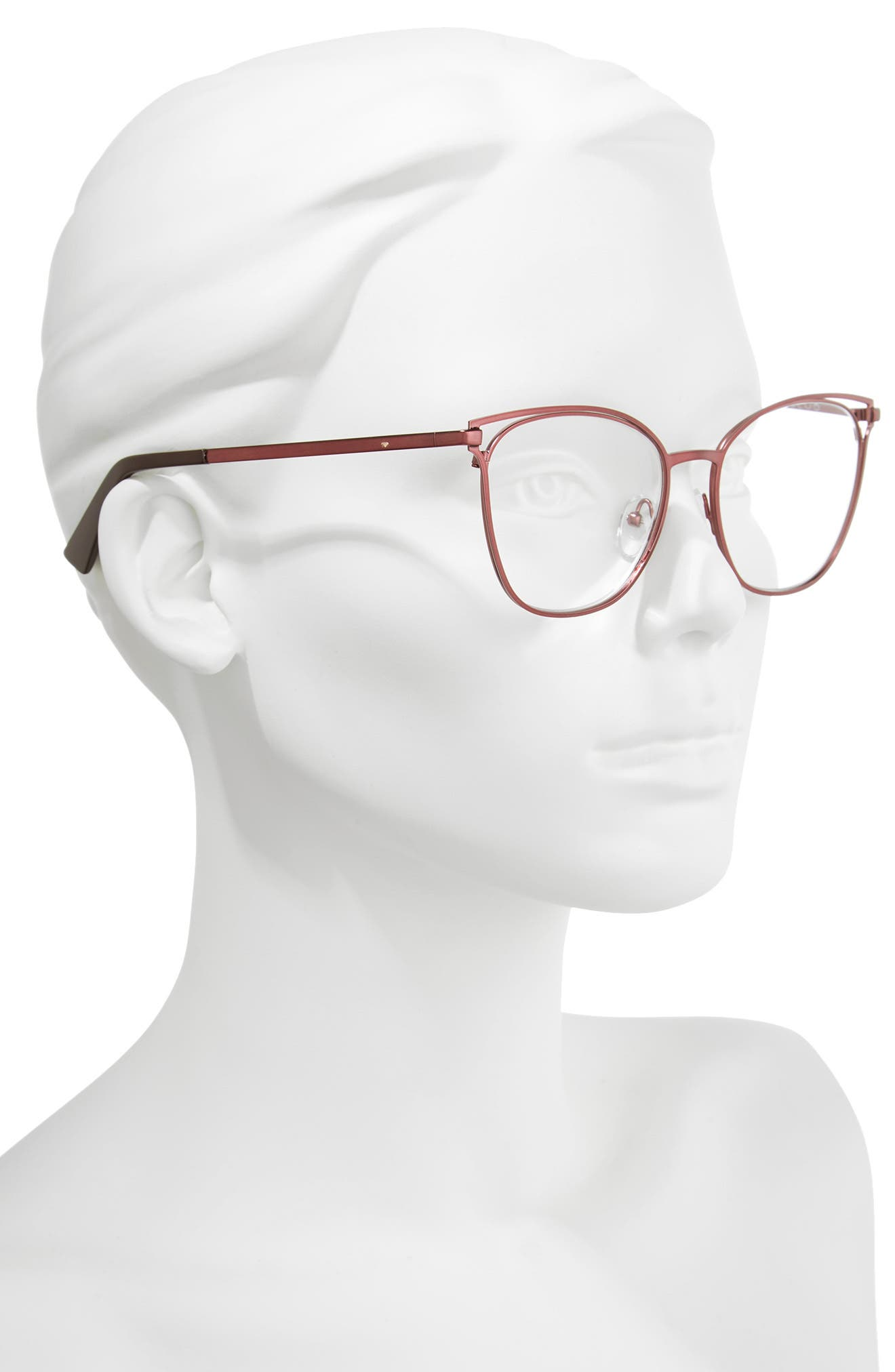 The Dutiful And The Scammed 53mm Reading Glasses,                             Alternate thumbnail 2, color,                             Wine