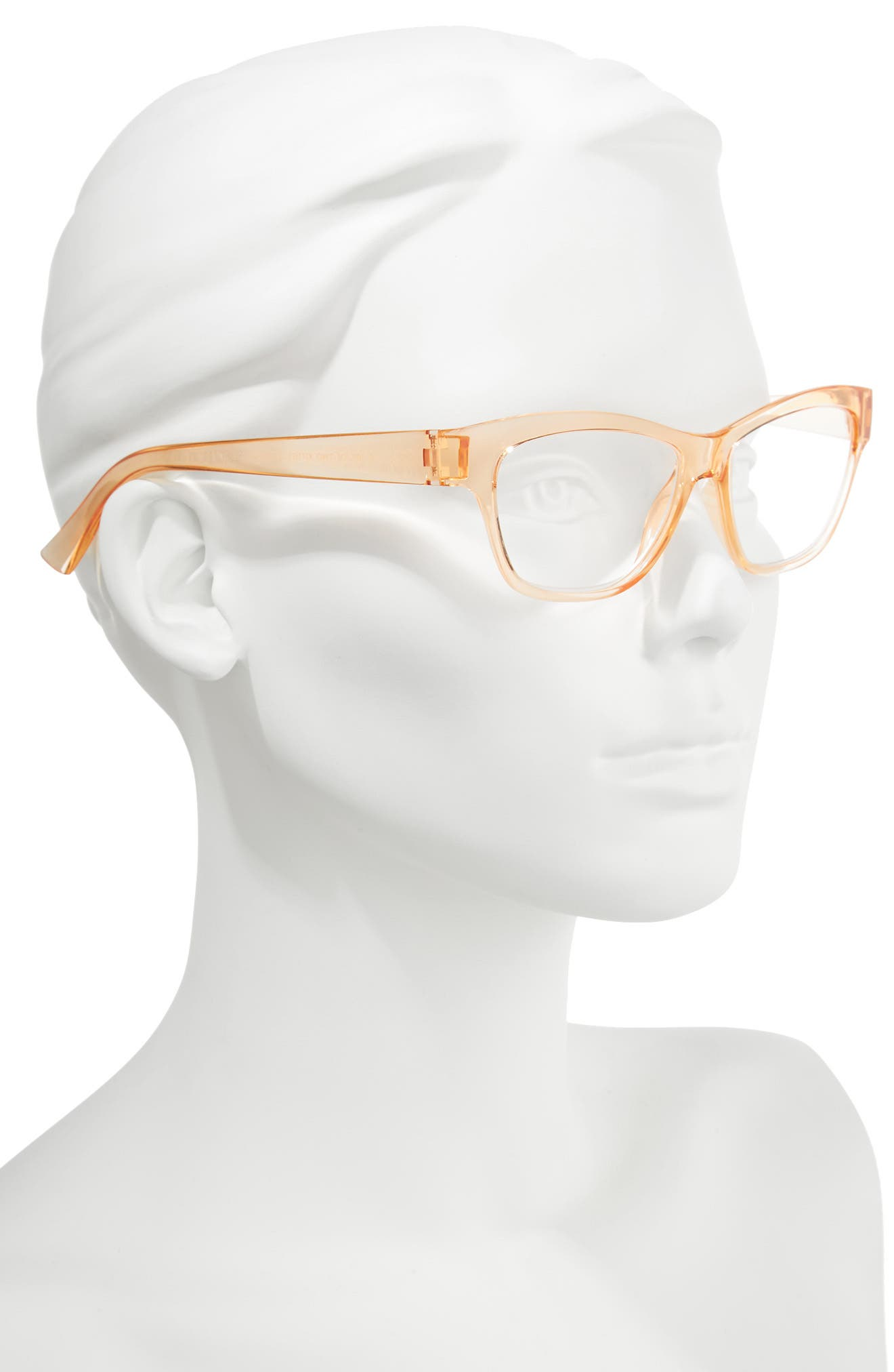 A Tail Of Two Kitties 53mm Reading Glasses,                             Alternate thumbnail 2, color,                             Sherbert
