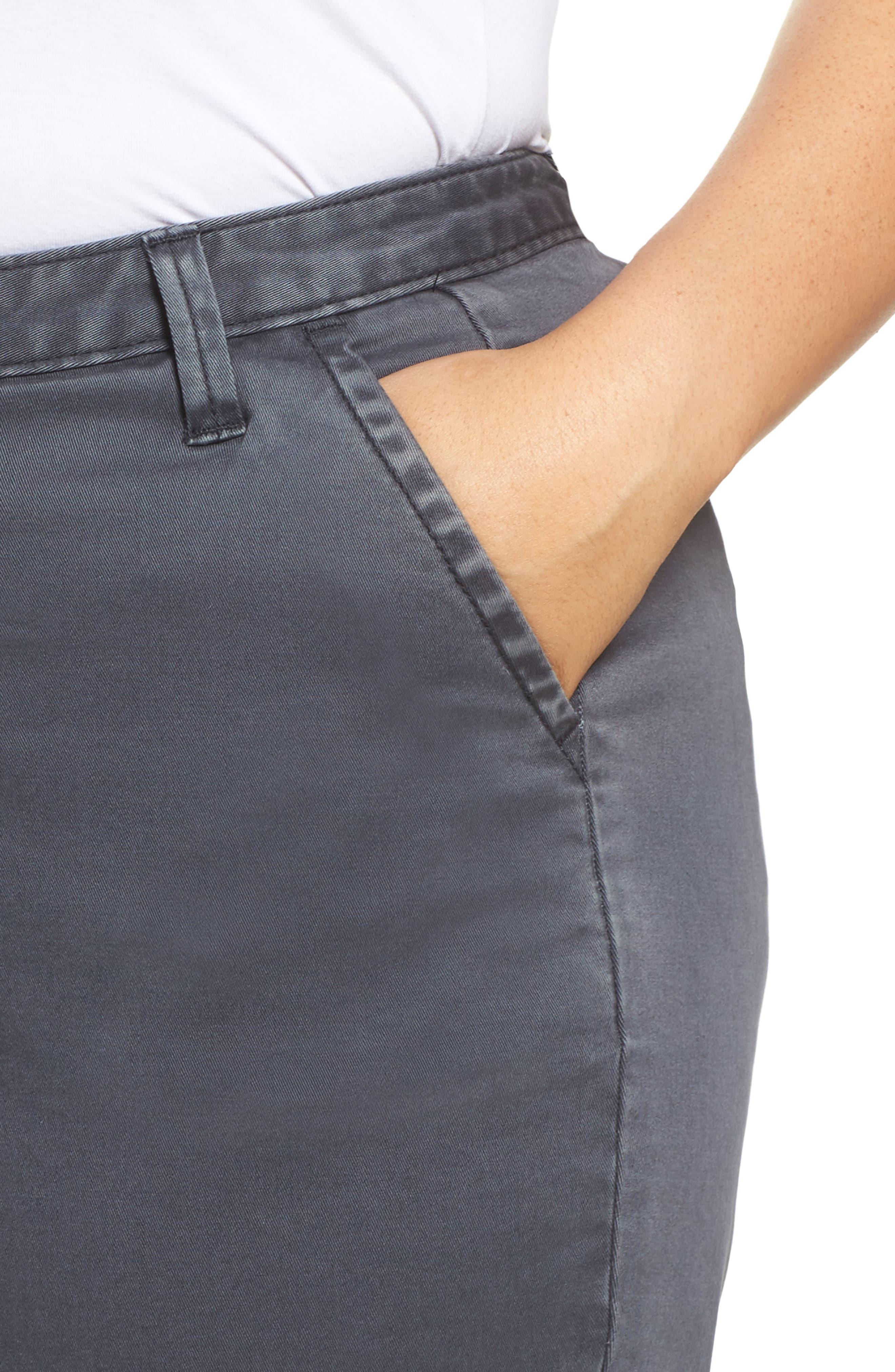 Twill Shorts,                             Alternate thumbnail 4, color,                             Grey Ebony