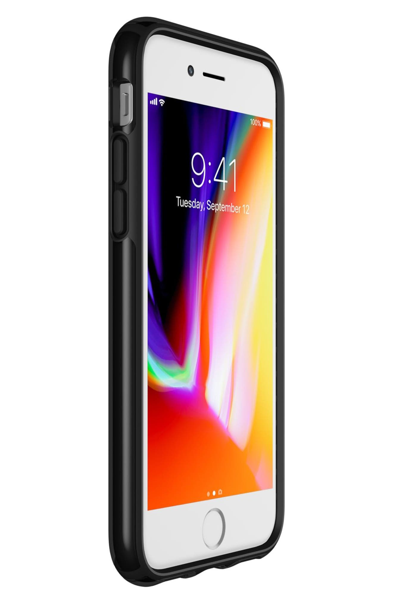 Transparent iPhone 6/6s/7/8 Case,                             Alternate thumbnail 5, color,                             Clear/ Black