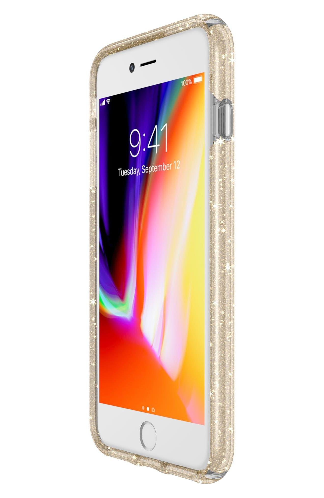 iPhone 6/6s/7/8 Plus Case,                             Alternate thumbnail 7, color,                             Clear With Gold Glitter/ Clear