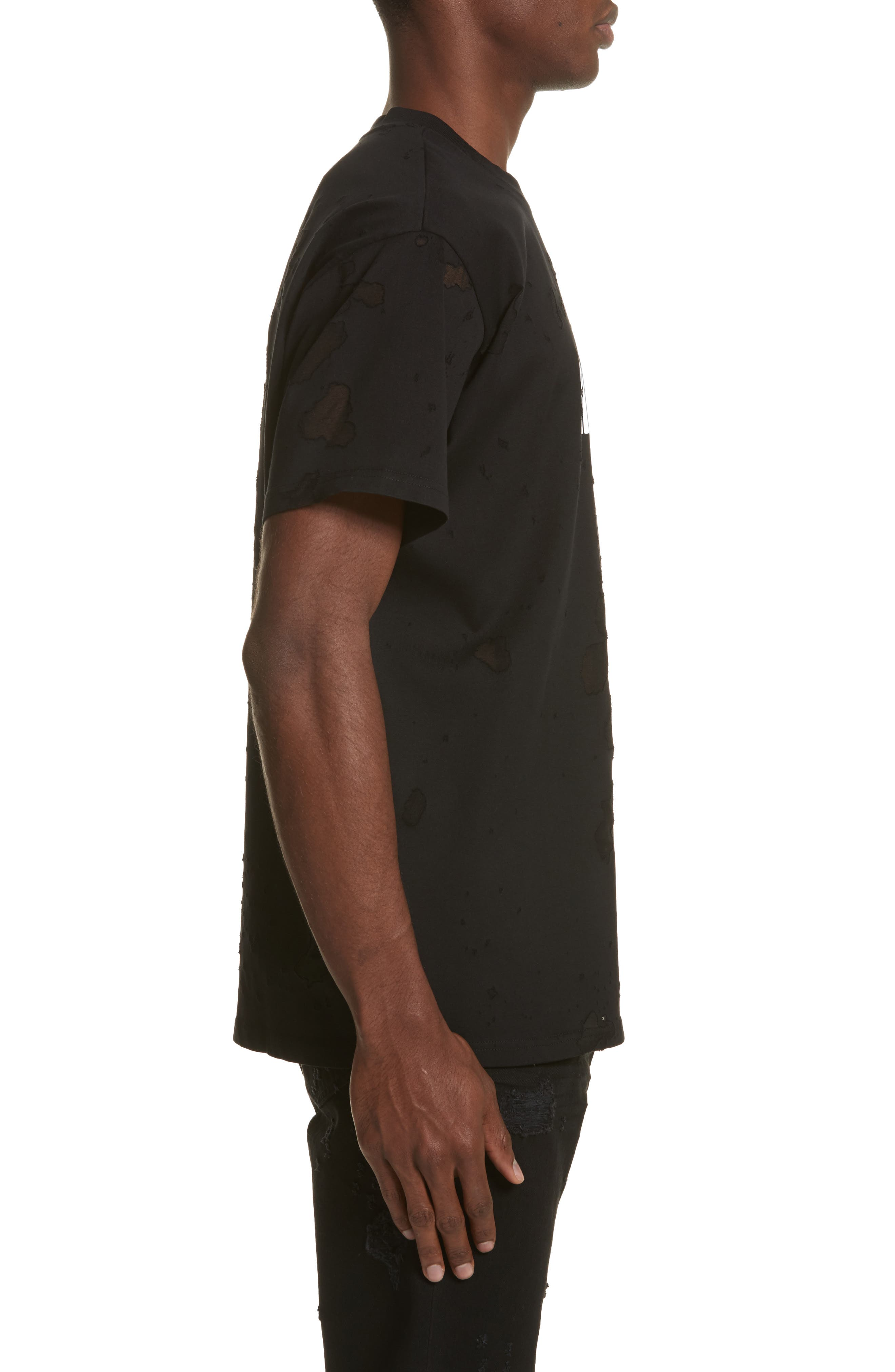 Alternate Image 3  - Givenchy Destroyed Logo Graphic T-Shirt