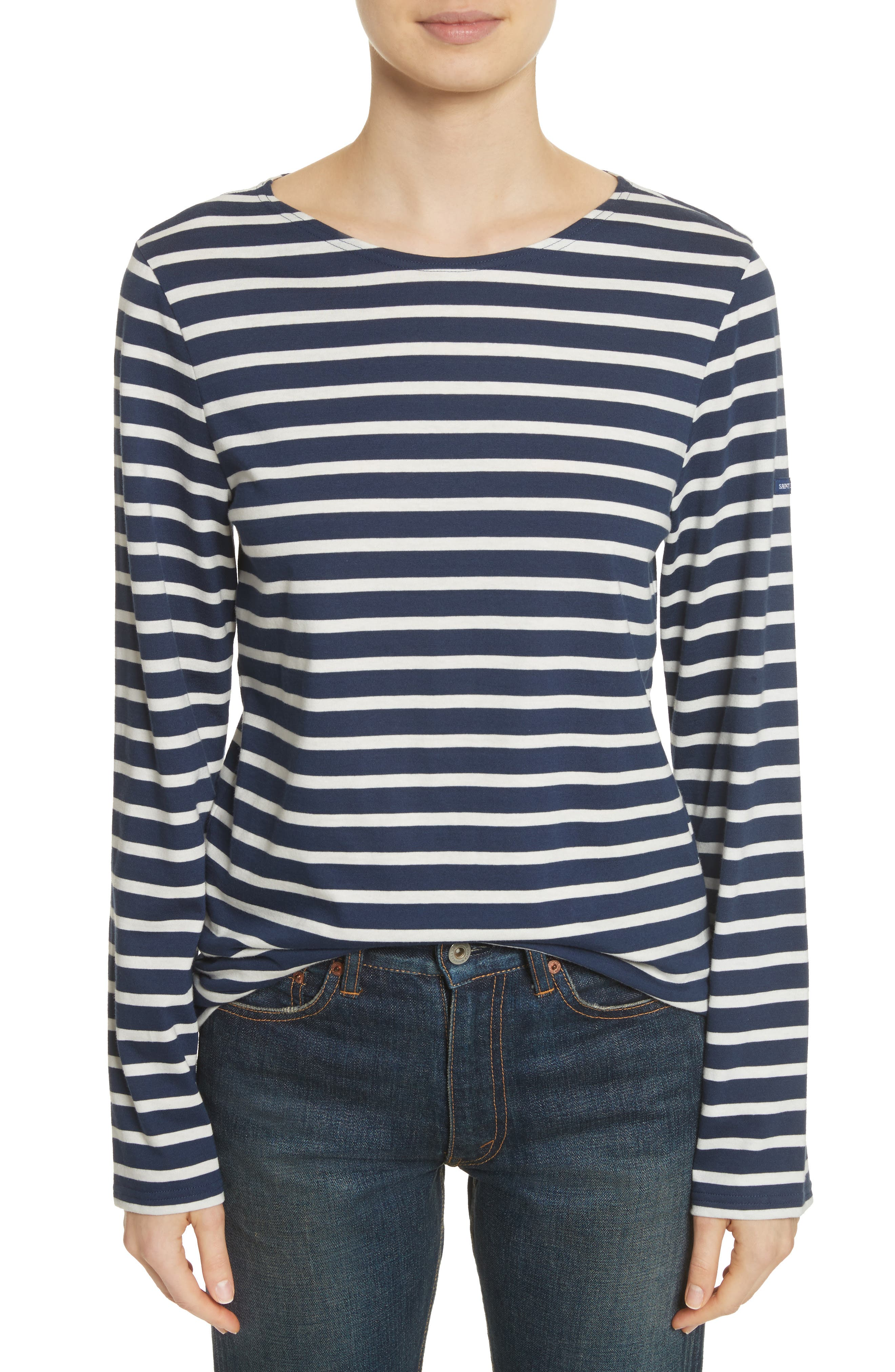 Alternate Image 2  - Saint James Minquiers Moderne Striped Sailor Shirt (Unisex)