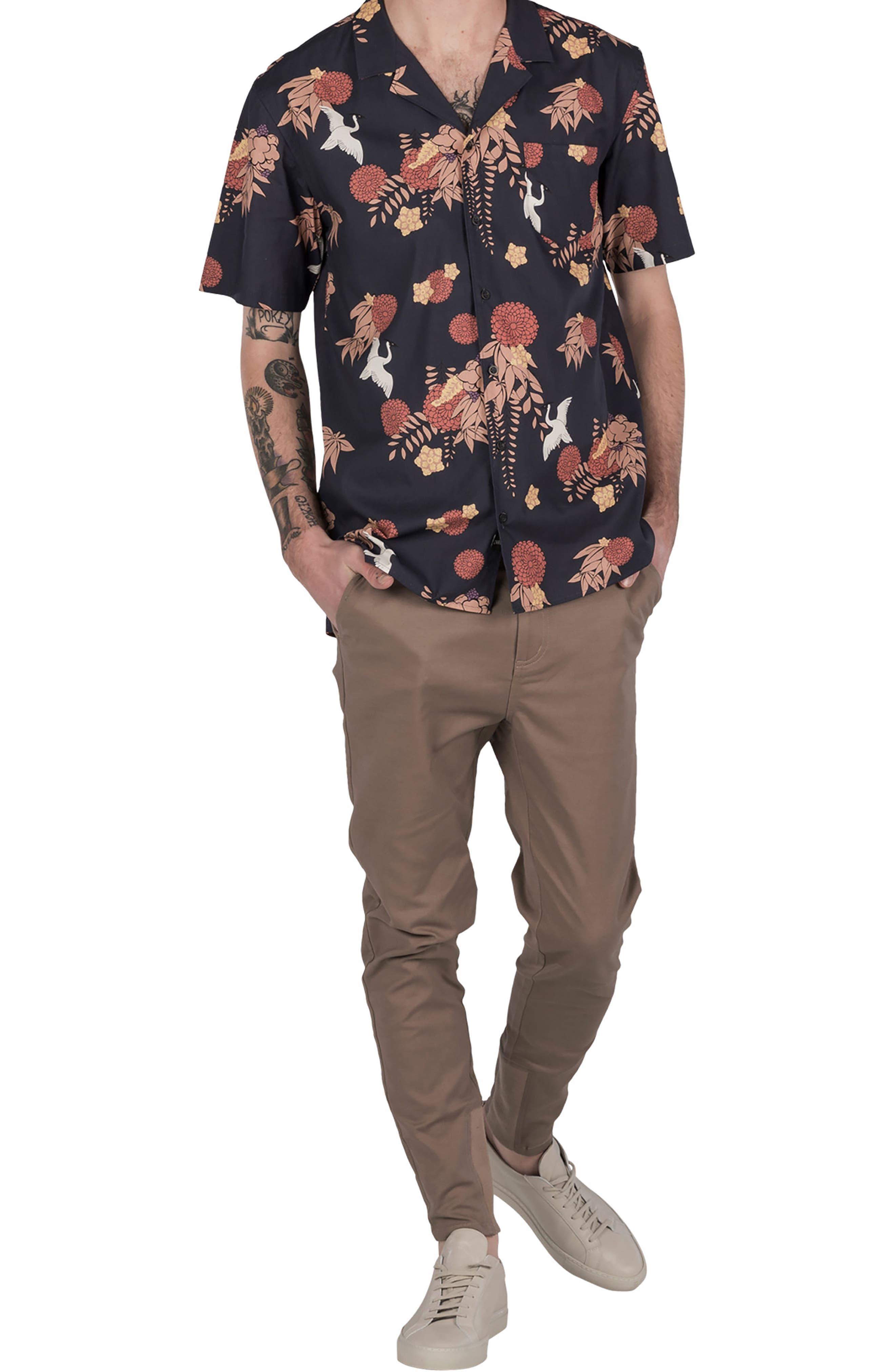 Crane Short Sleeve Shirt,                             Alternate thumbnail 5, color,                             Navy