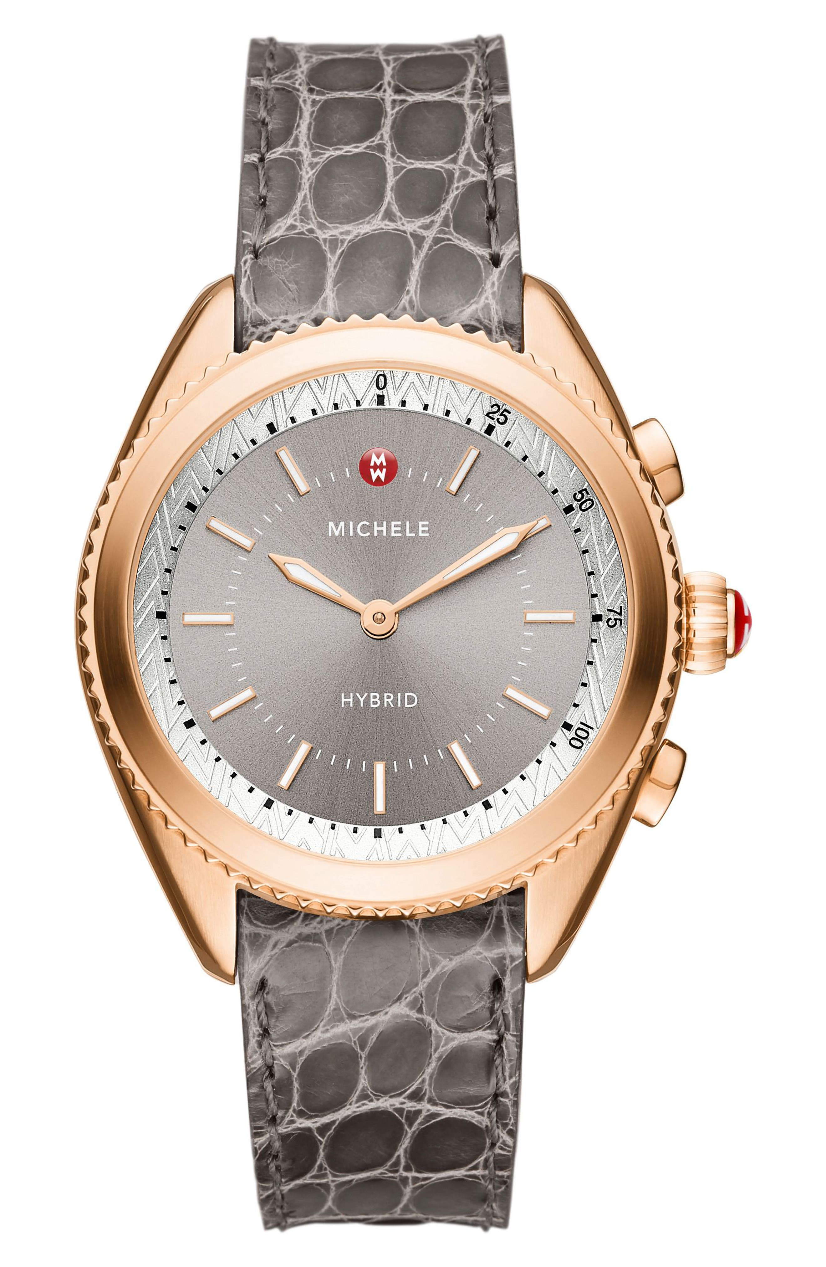 Hybrid Tracker Watch, 38mm,                             Main thumbnail 1, color,                             Grey/ Sunray Grey/ Rose Gold