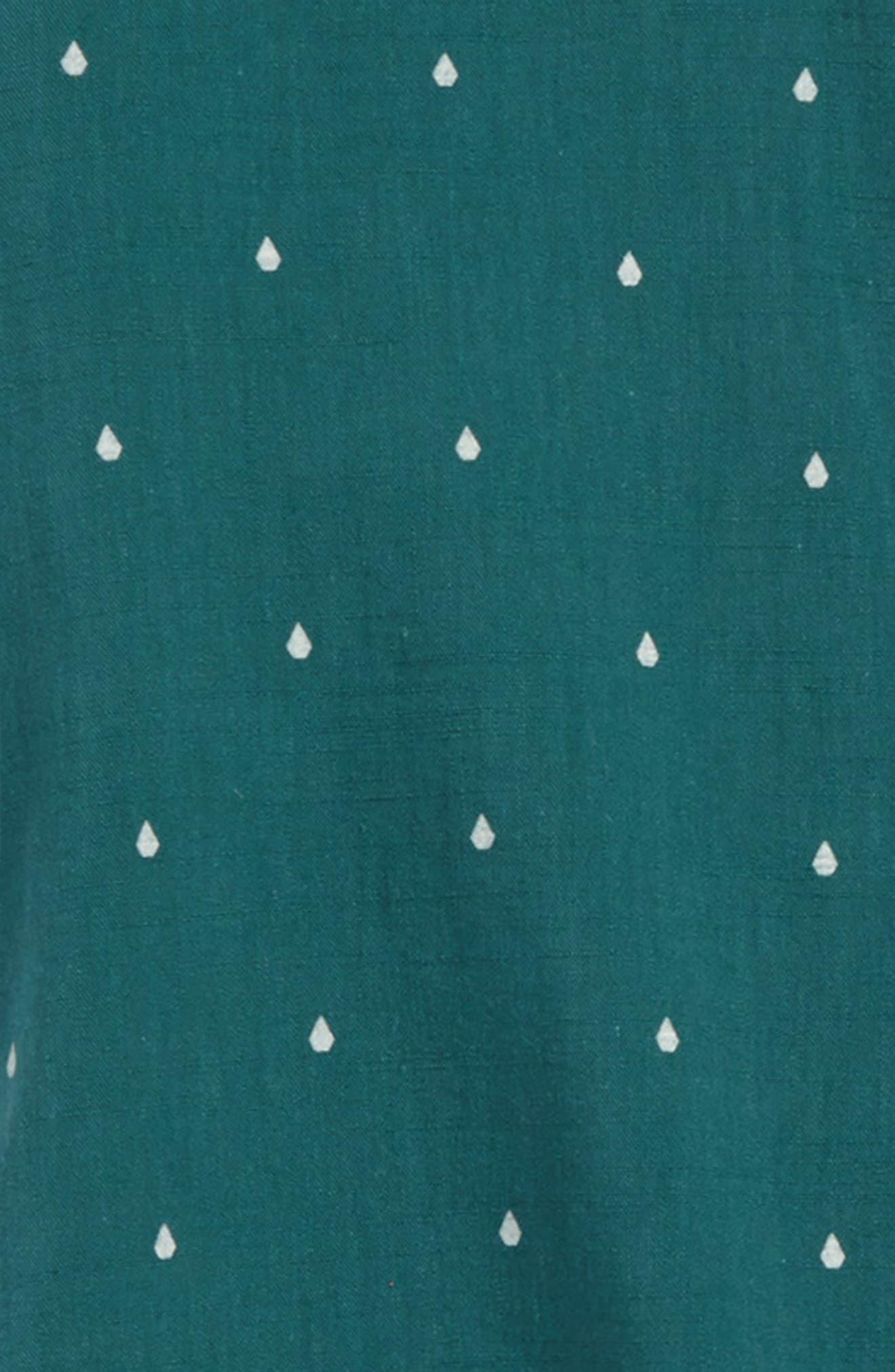 Stone Short Sleeve Woven Shirt,                             Alternate thumbnail 2, color,                             Green