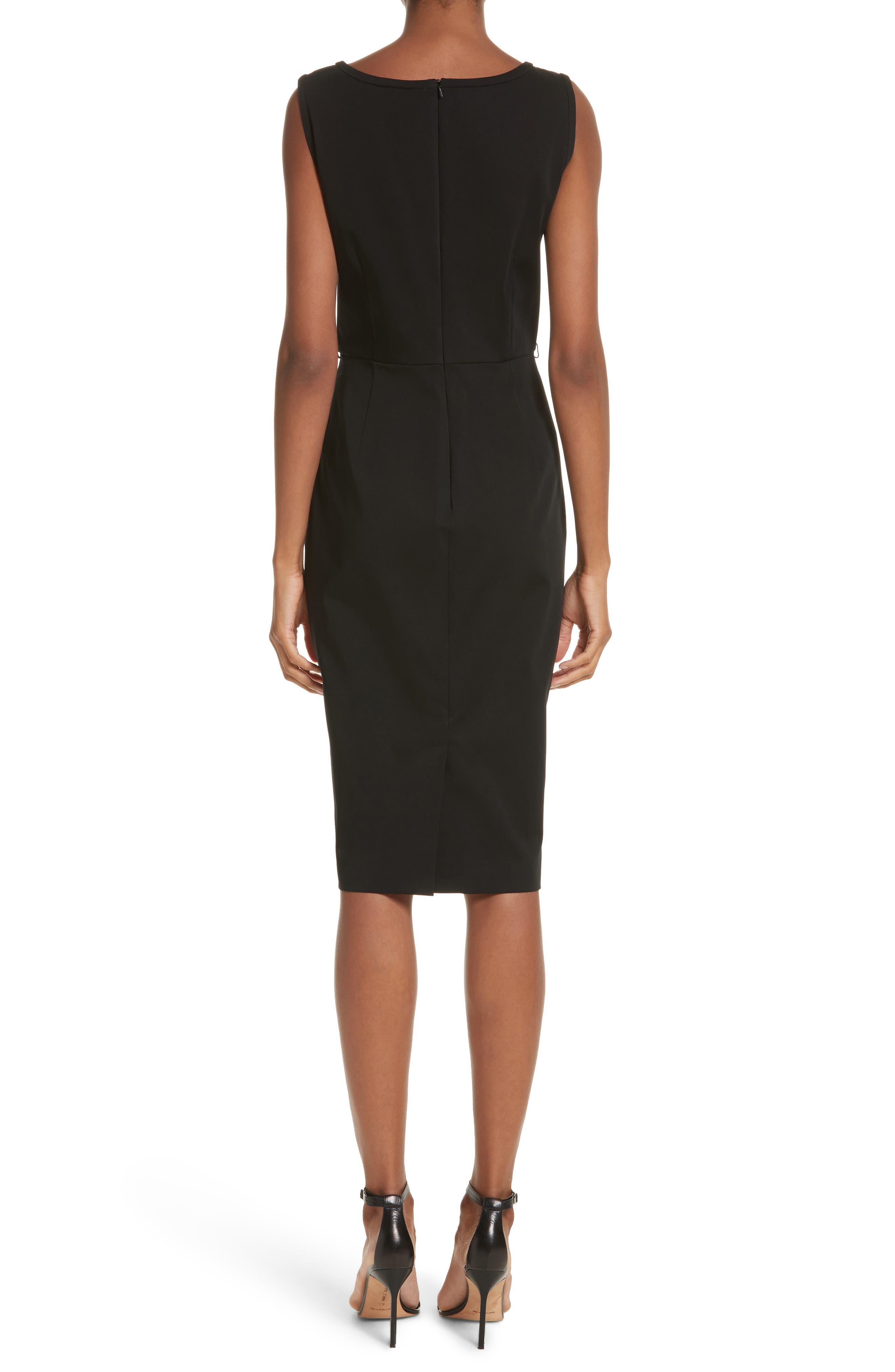 Segnale Sheath Dress,                             Alternate thumbnail 2, color,                             Black
