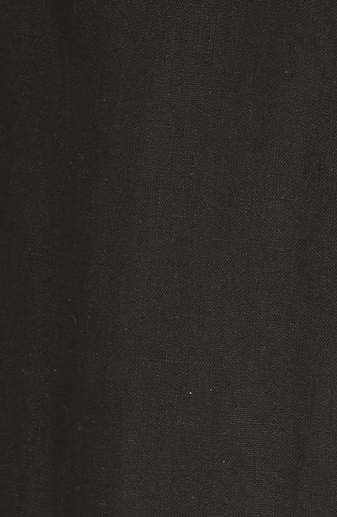 Luigia Linen Crop Flare Pants,                             Alternate thumbnail 5, color,                             Black