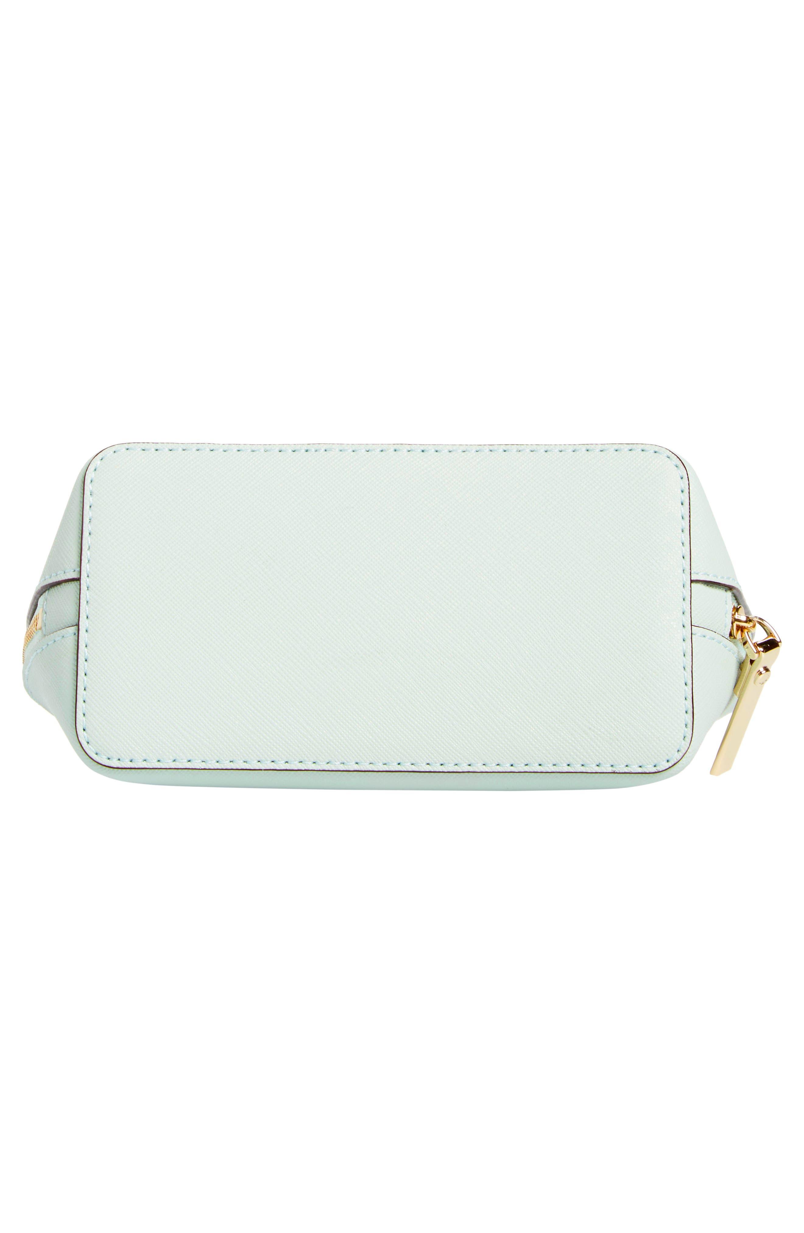 cameron street - small abalene leather cosmetics bag,                             Alternate thumbnail 5, color,                             Misty Mint