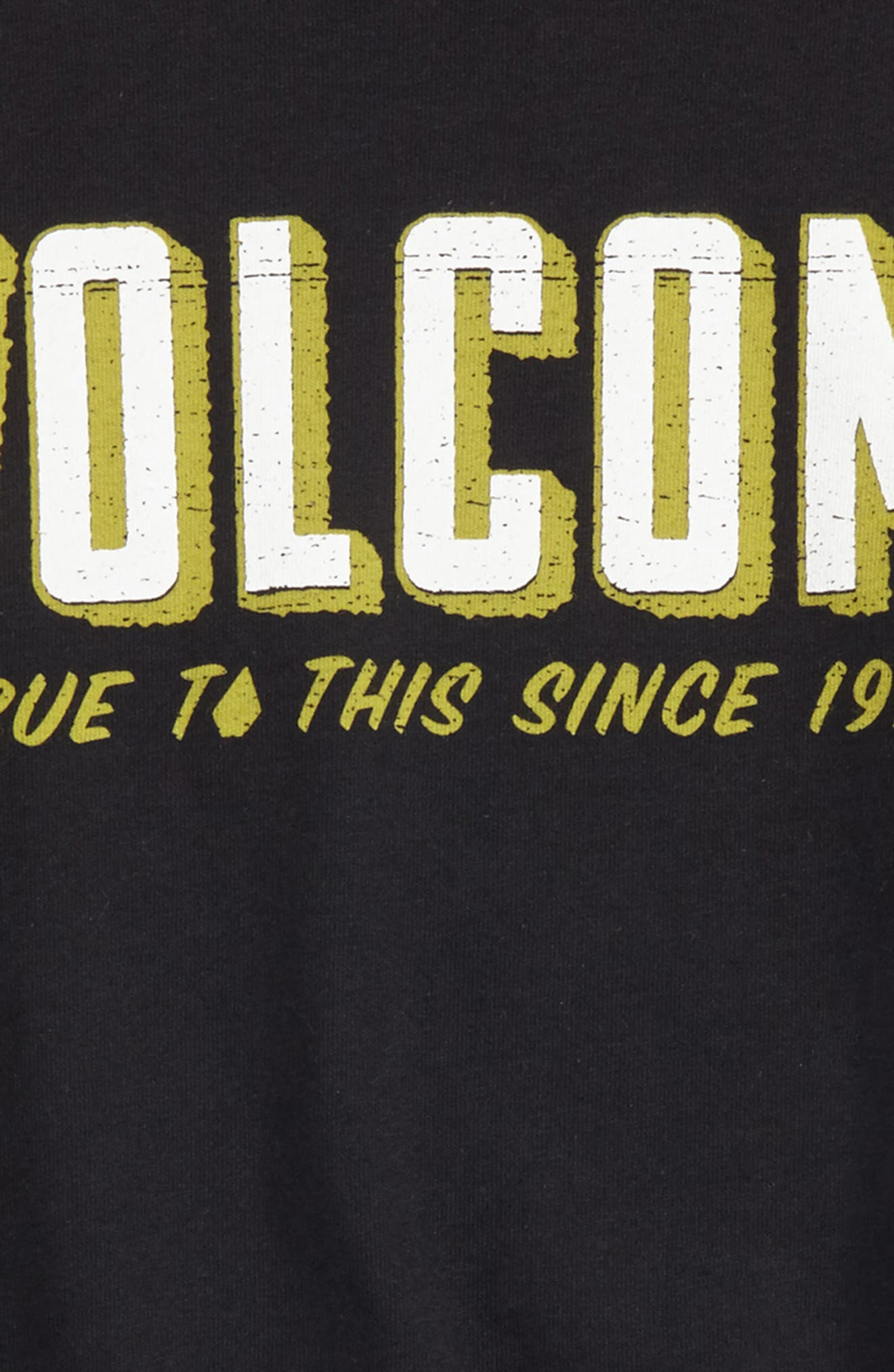 Camp Stone Logo Graphic T-Shirt,                             Alternate thumbnail 2, color,                             Black