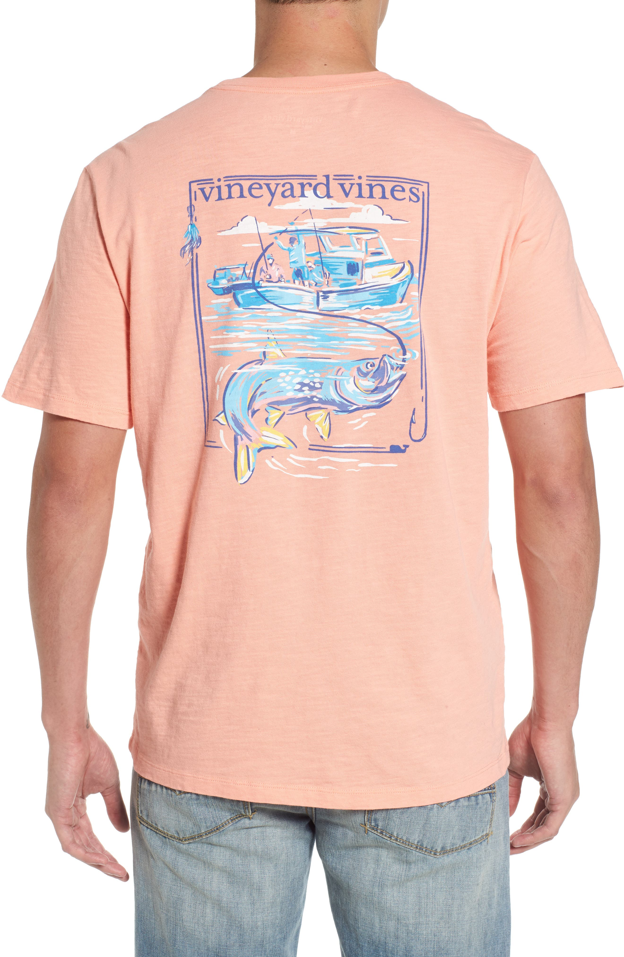 Alternate Image 1 Selected - vineyard vines Painted Tarpon Graphic Pocket T-Shirt