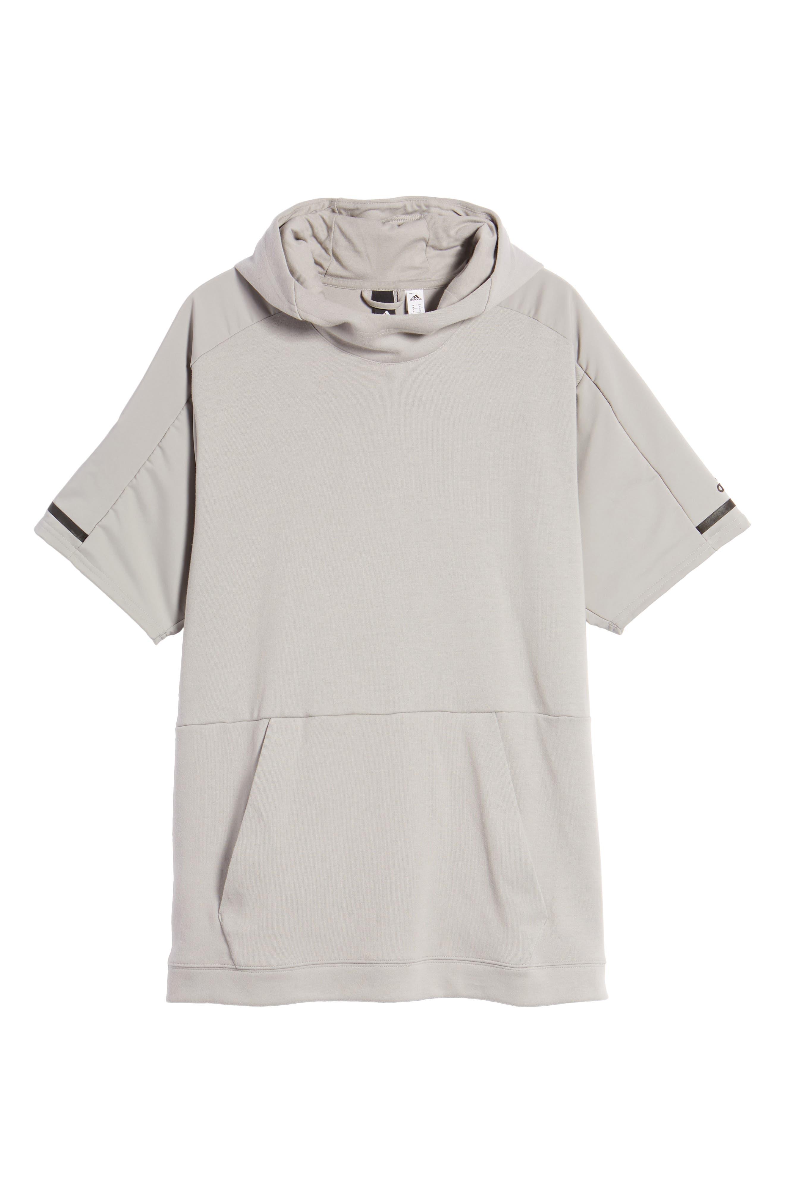 Alternate Image 2  - adidas SQD Short Sleeve Hoodie