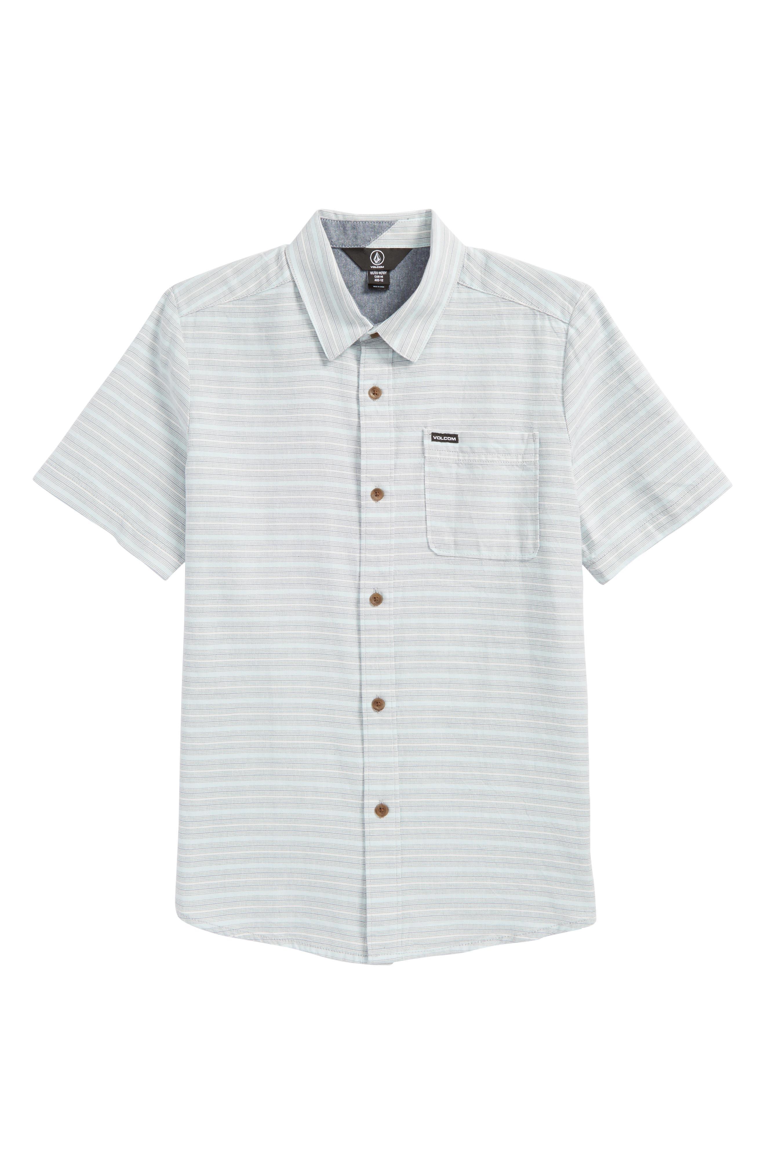 Alternate Image 1 Selected - Volcom Eastport Basket Weave Shirt (Big Boys)