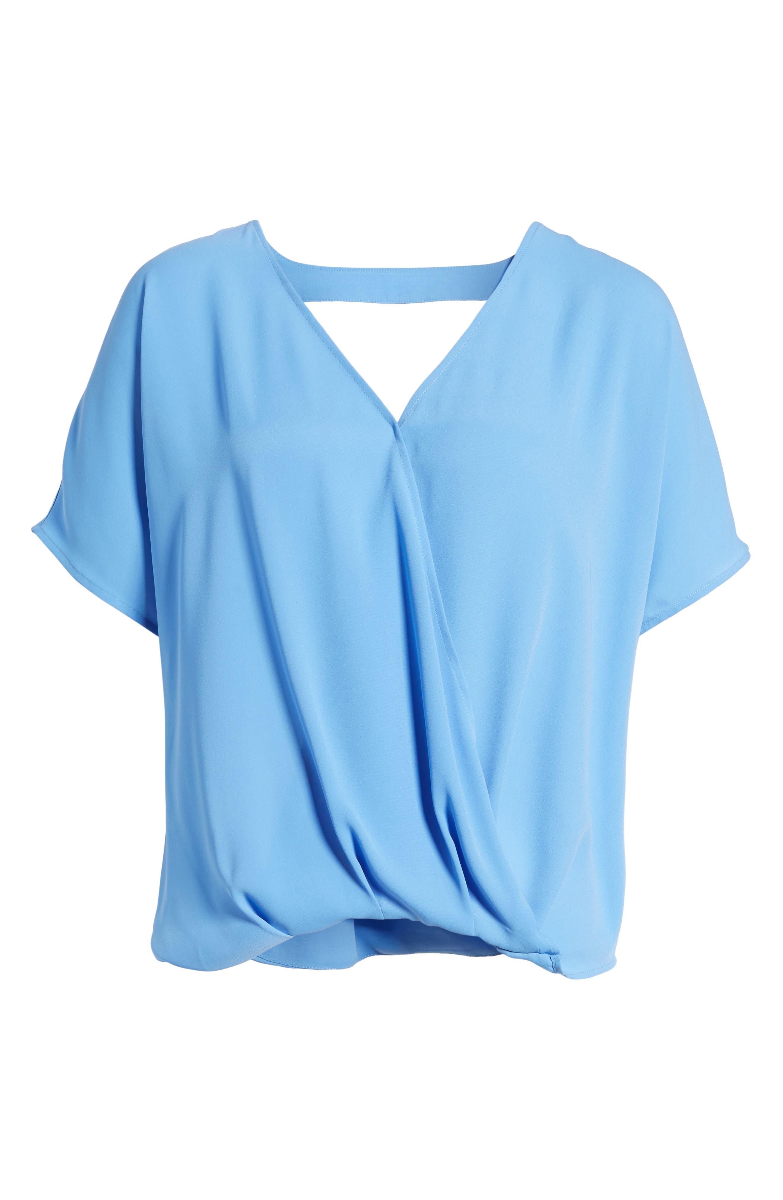 Surplice Top,                             Alternate thumbnail 5, color,                             Blue Azurite