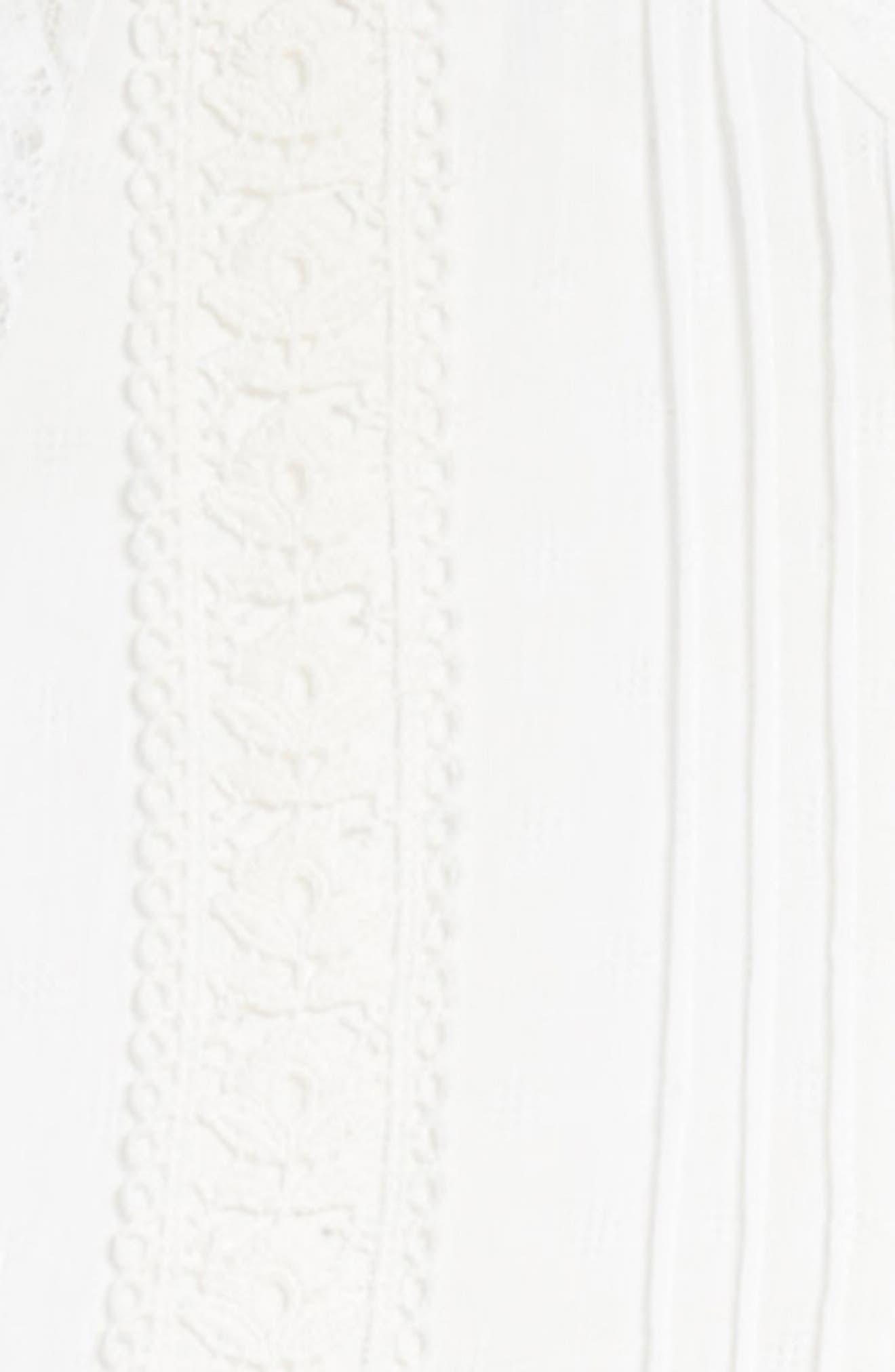 Lace Trim Maxi Dress,                             Alternate thumbnail 3, color,                             Ivory