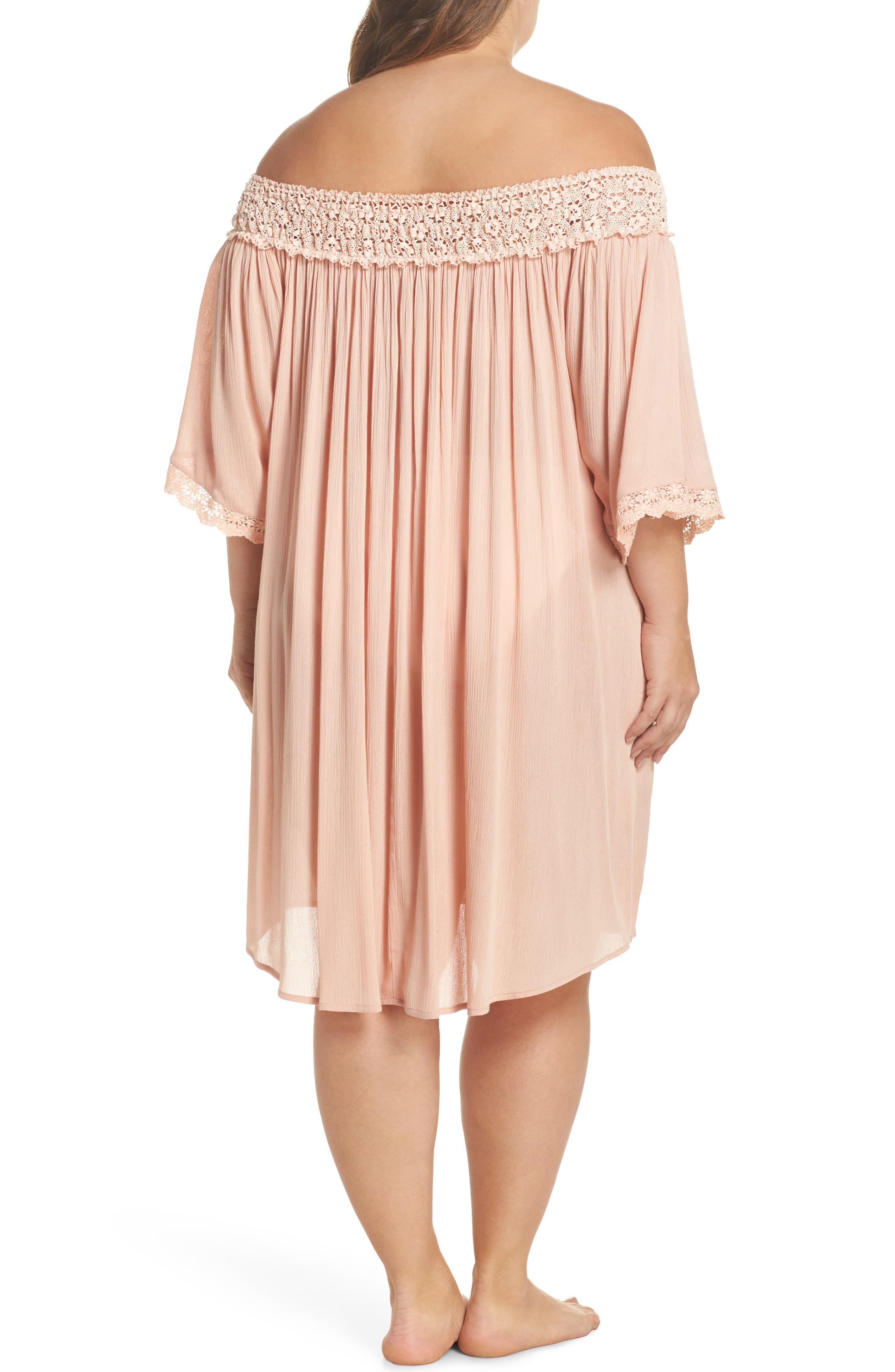 Rimini Crochet Cover-Up Dress,                             Alternate thumbnail 2, color,                             Pink