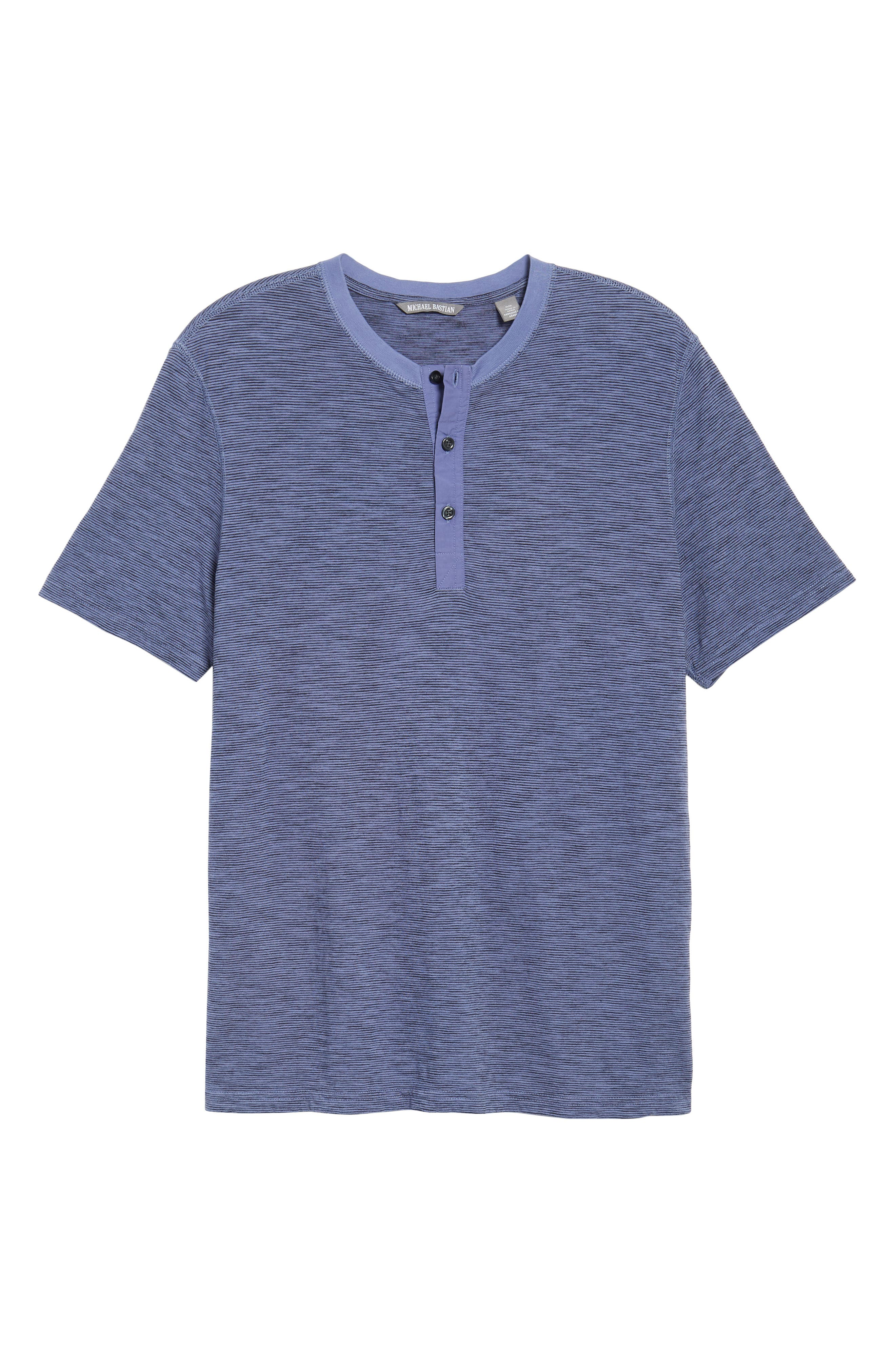Garment Dyed Henley,                             Alternate thumbnail 6, color,                             Periwinkle