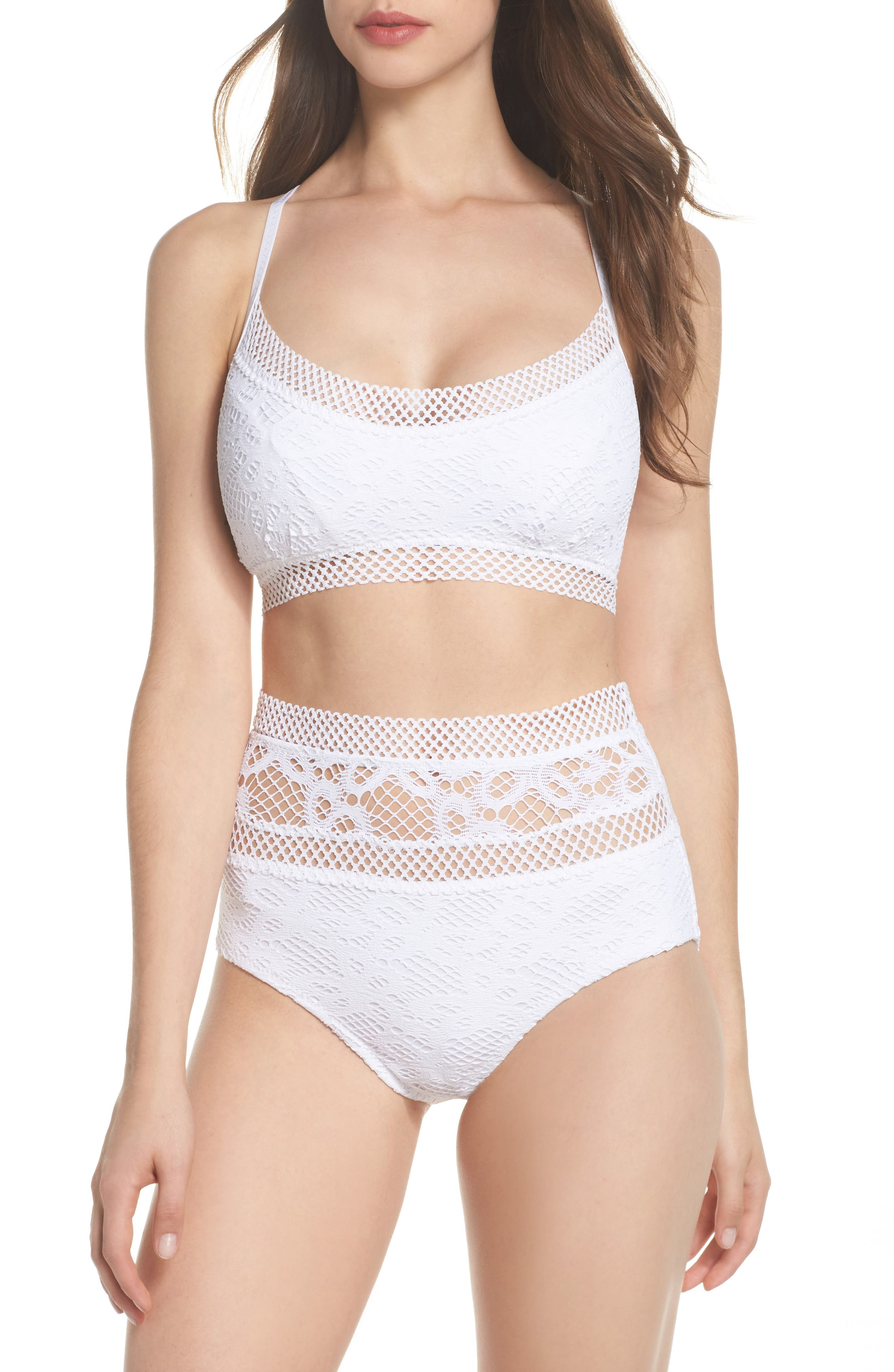 Alternate Image 7  - Becca Captured Crochet Full Figure Bikini Top