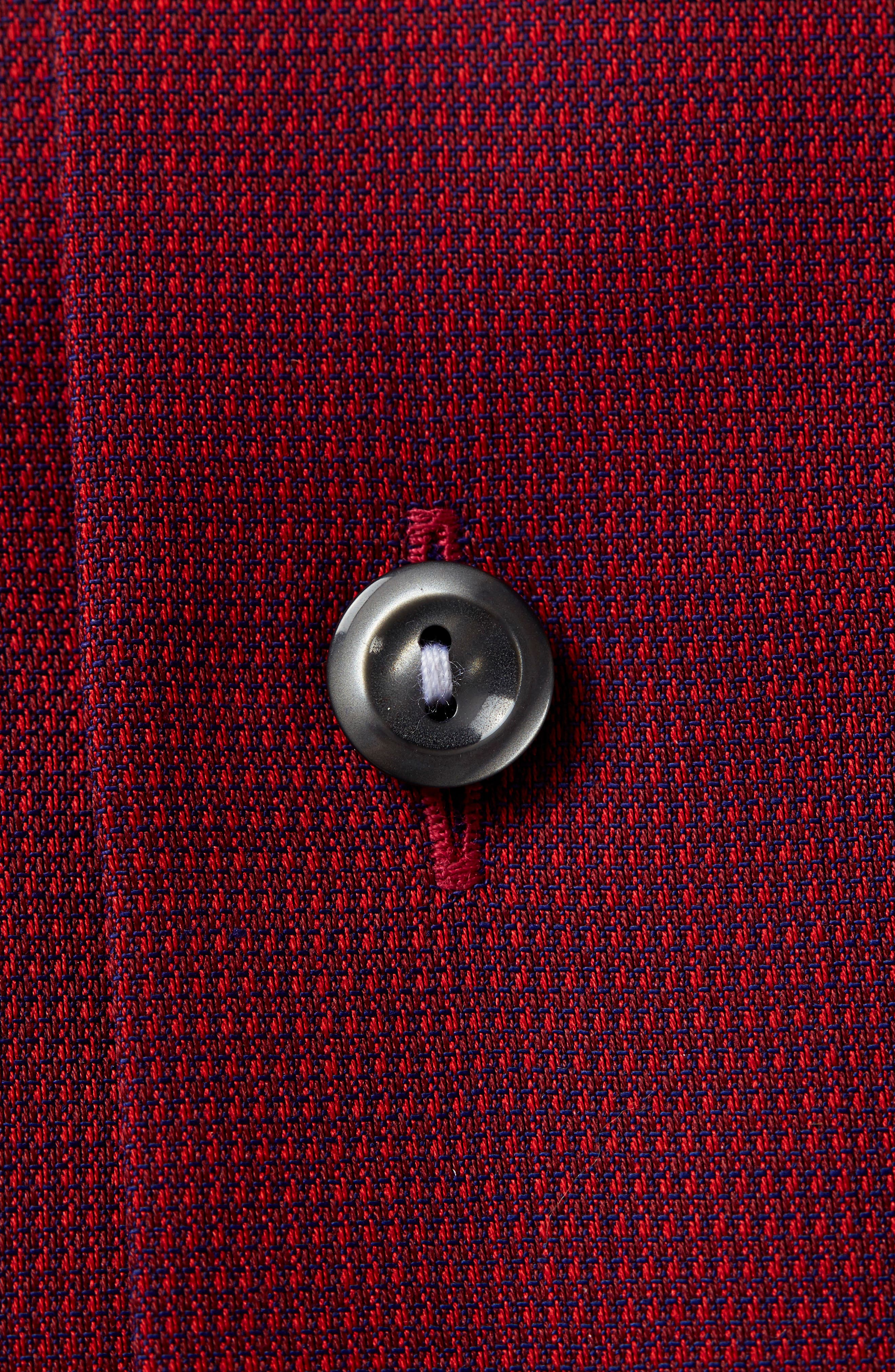 Contemporary Fit Solid Dress Shirt,                             Alternate thumbnail 3, color,                             Red