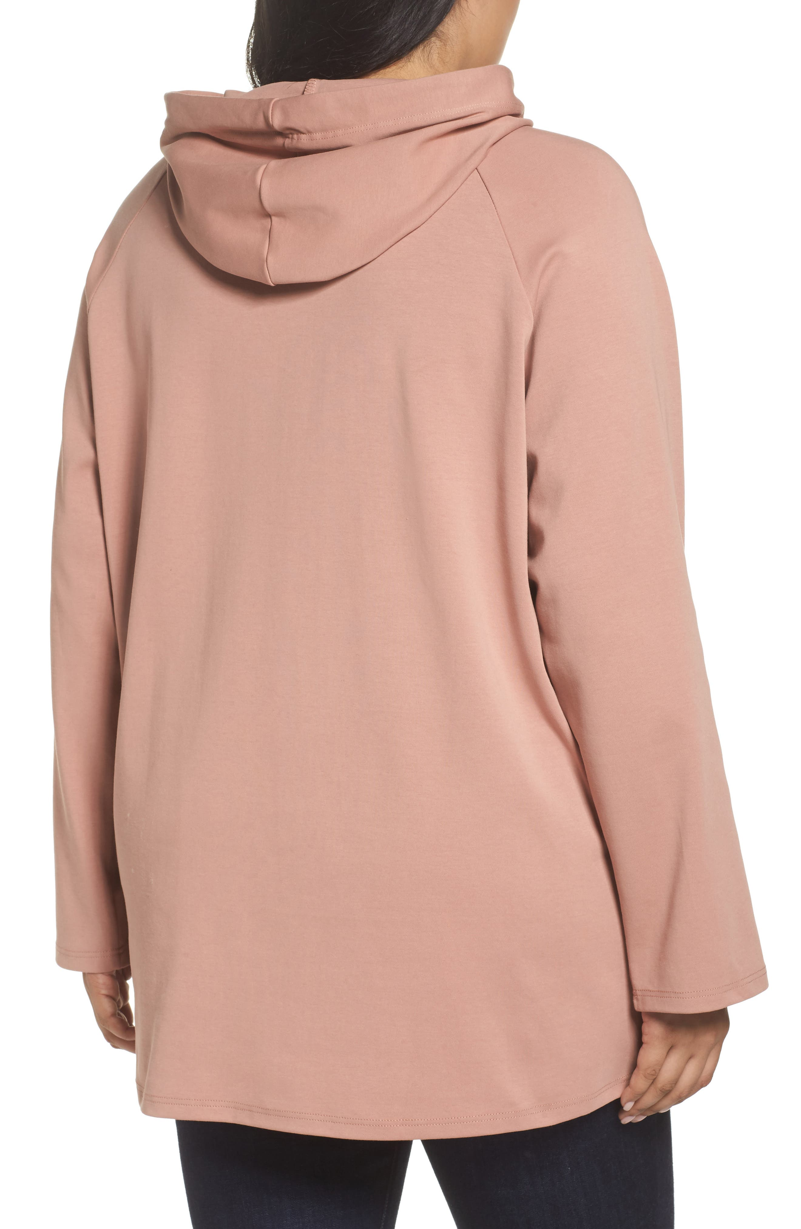 Hoodie Tunic,                             Alternate thumbnail 2, color,                             Dusty Rose