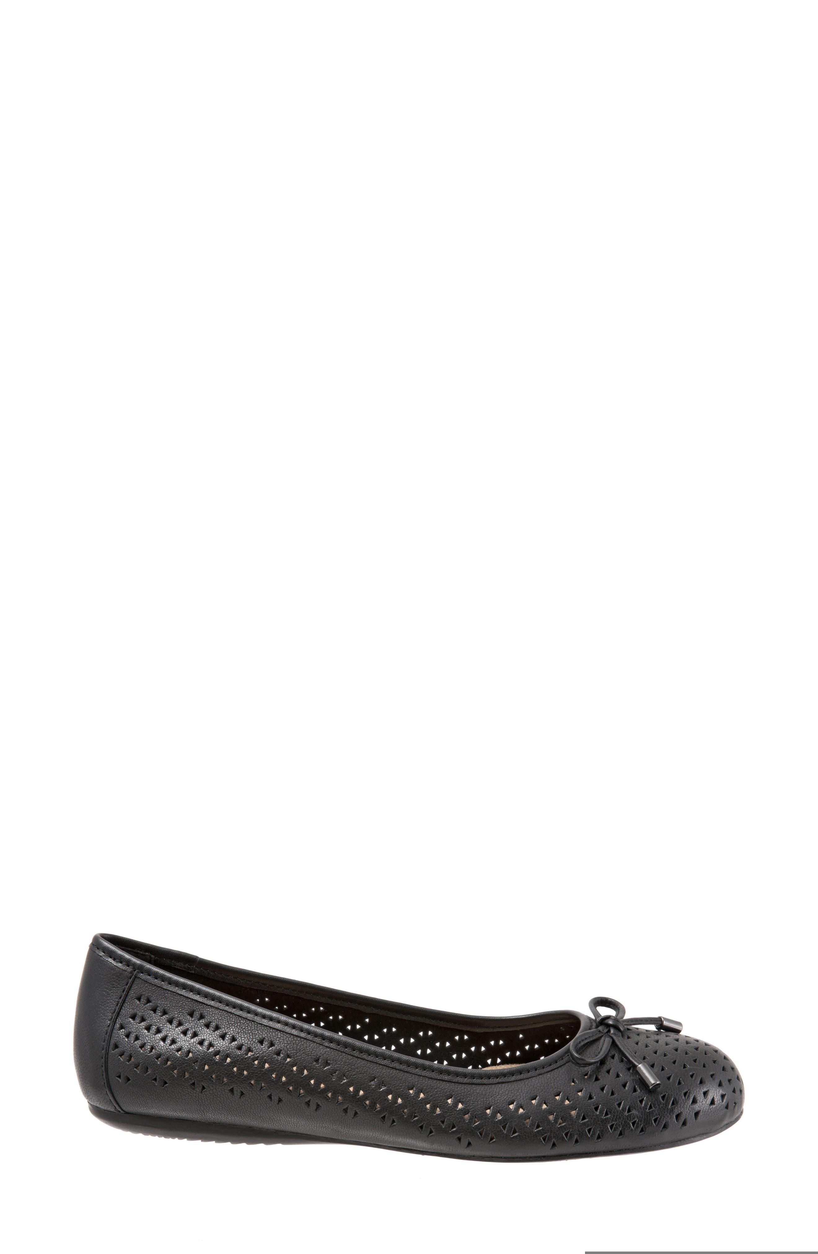 Napa Flat,                             Alternate thumbnail 4, color,                             Black Leather