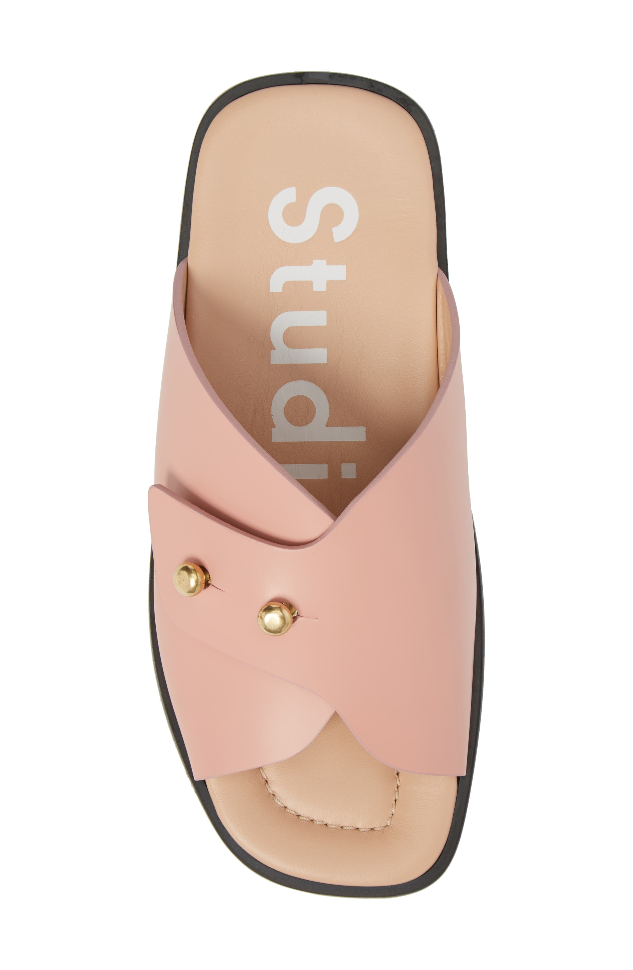 Jilly Studded Slide Sandal,                             Alternate thumbnail 5, color,                             Pink