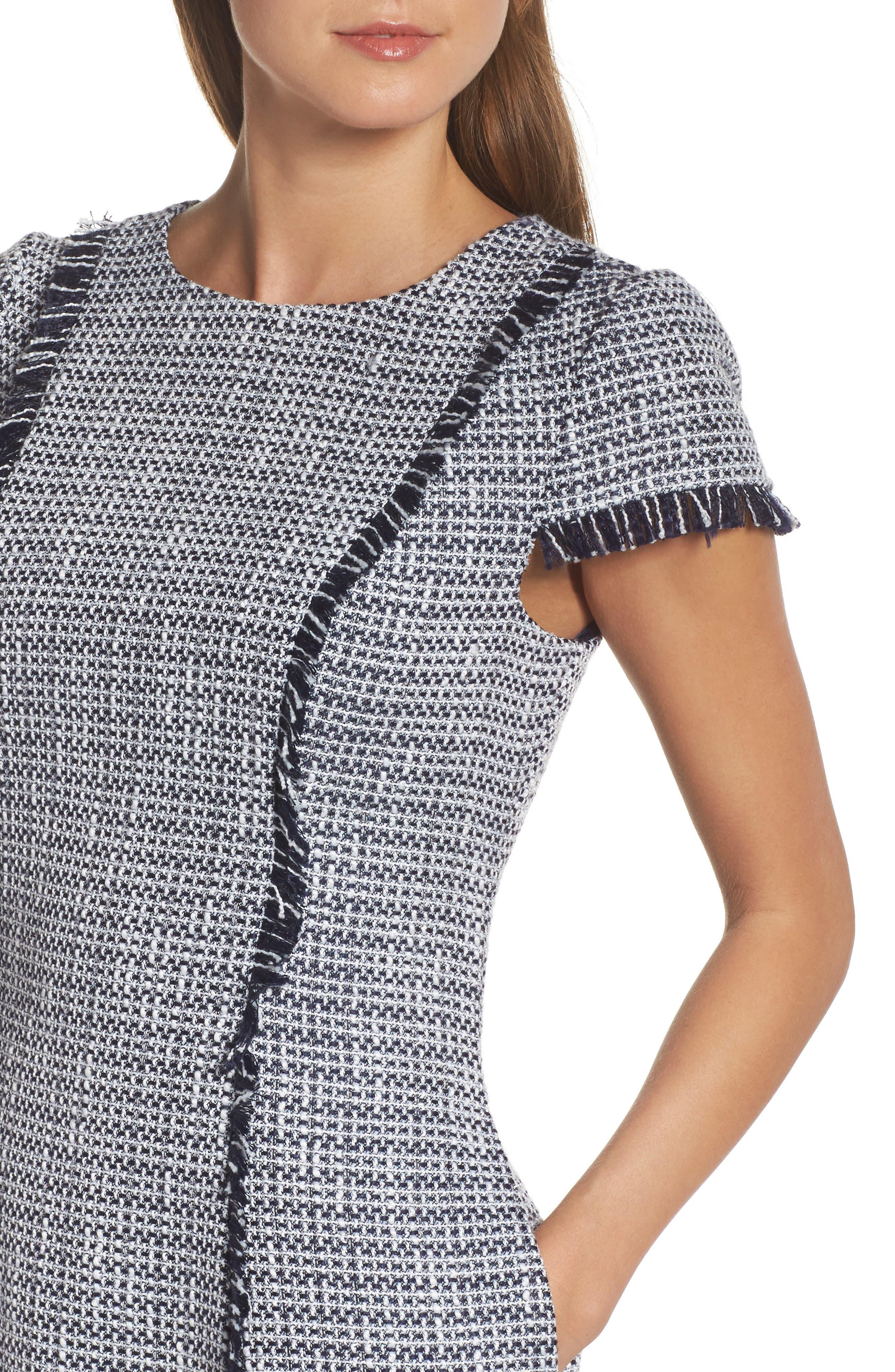 Alternate Image 4  - Eliza J Tweed Fit & Flare Dress