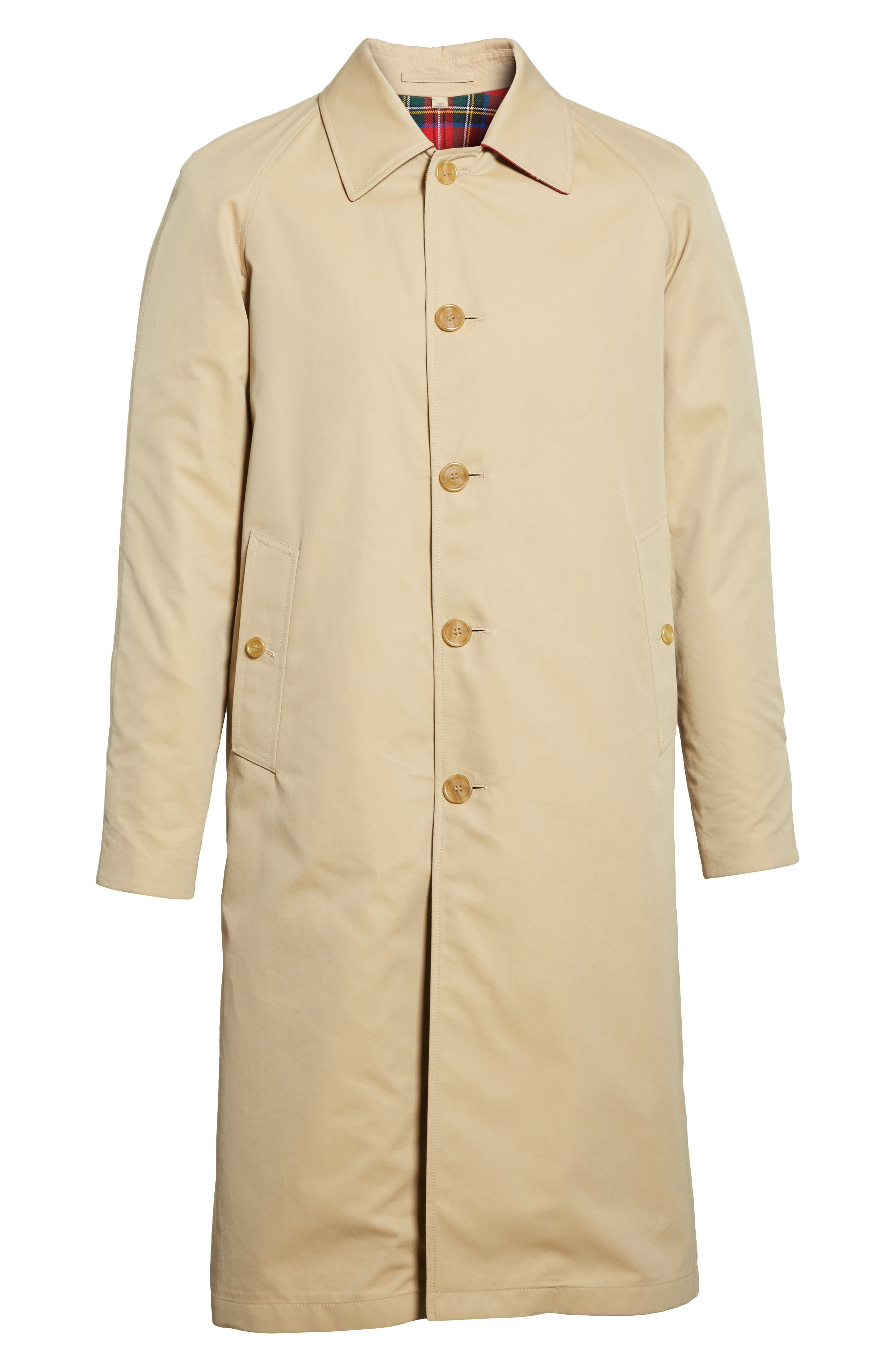 Alternate Image 7  - Burberry Hollins Reversible Topcoat