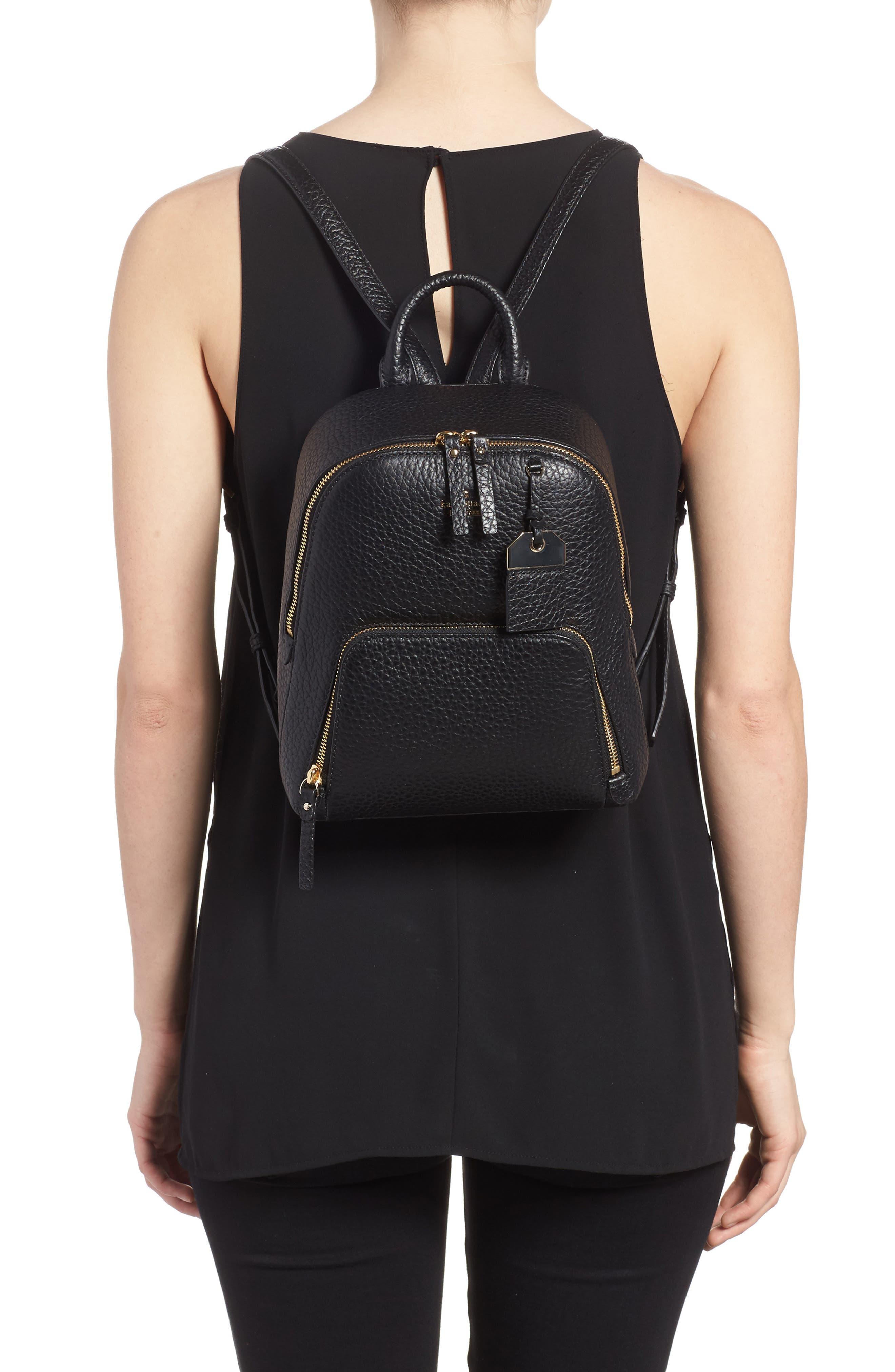 carter street - caden leather backpack,                             Alternate thumbnail 2, color,                             Black