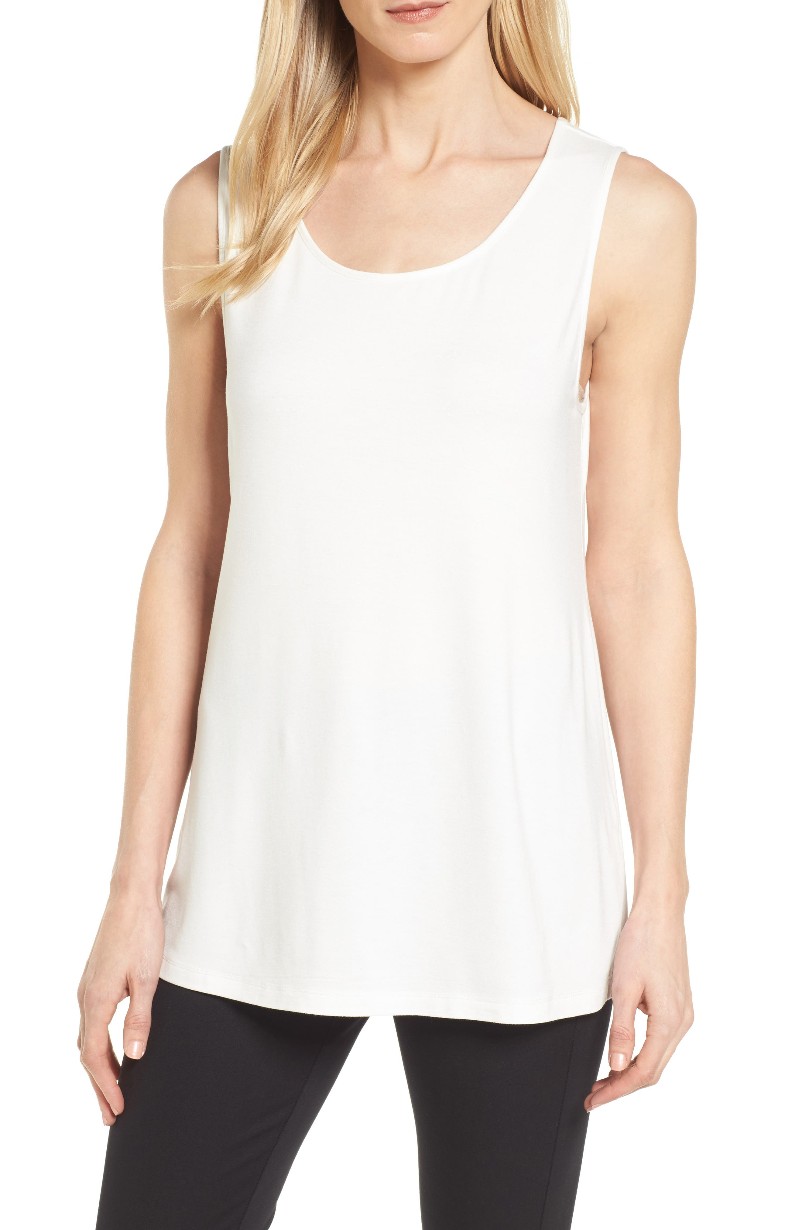 Long Jersey Tank,                         Main,                         color, White