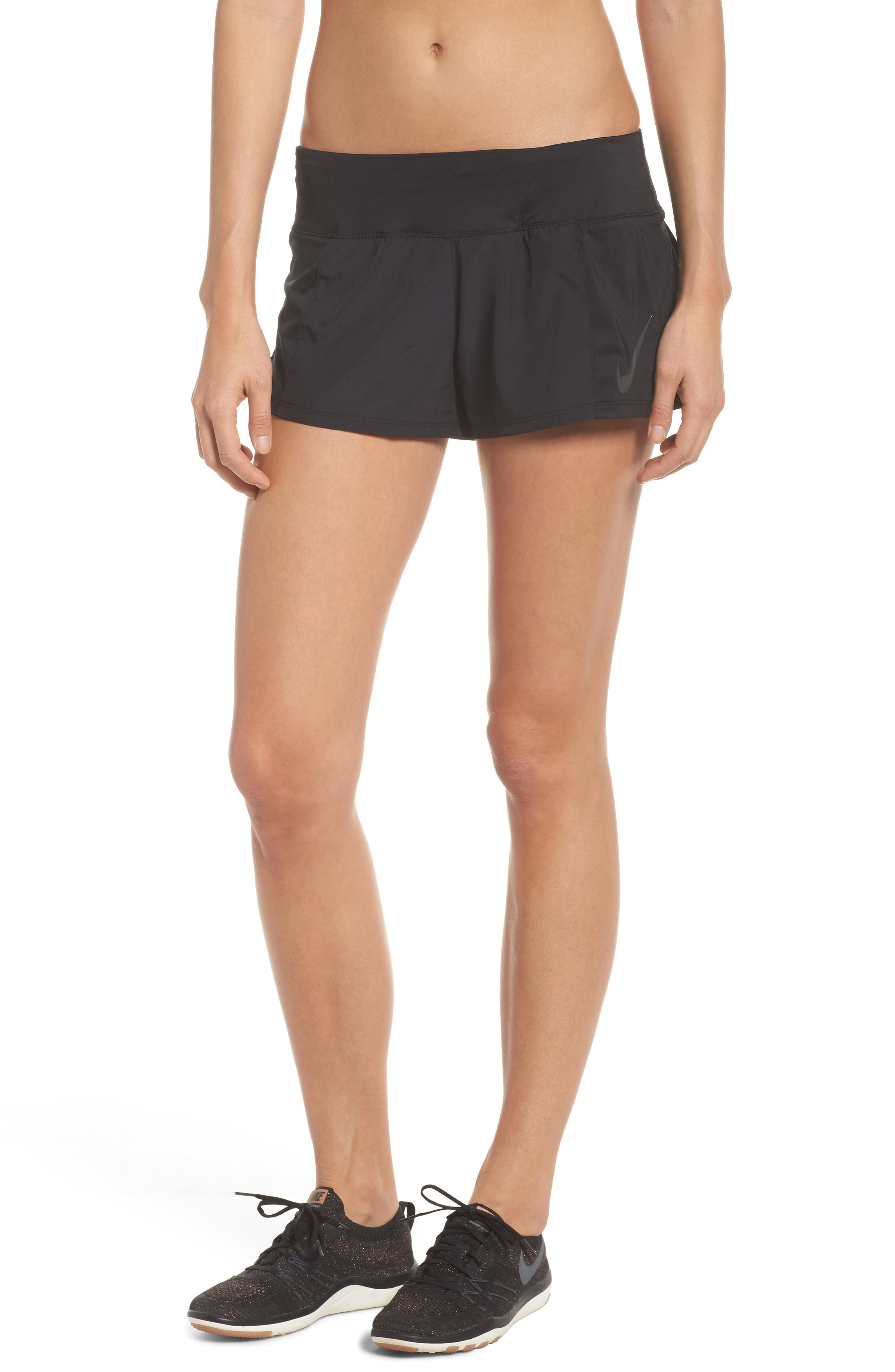 Dry Crew Running Shorts,                             Main thumbnail 1, color,                             Black/ Anthracite