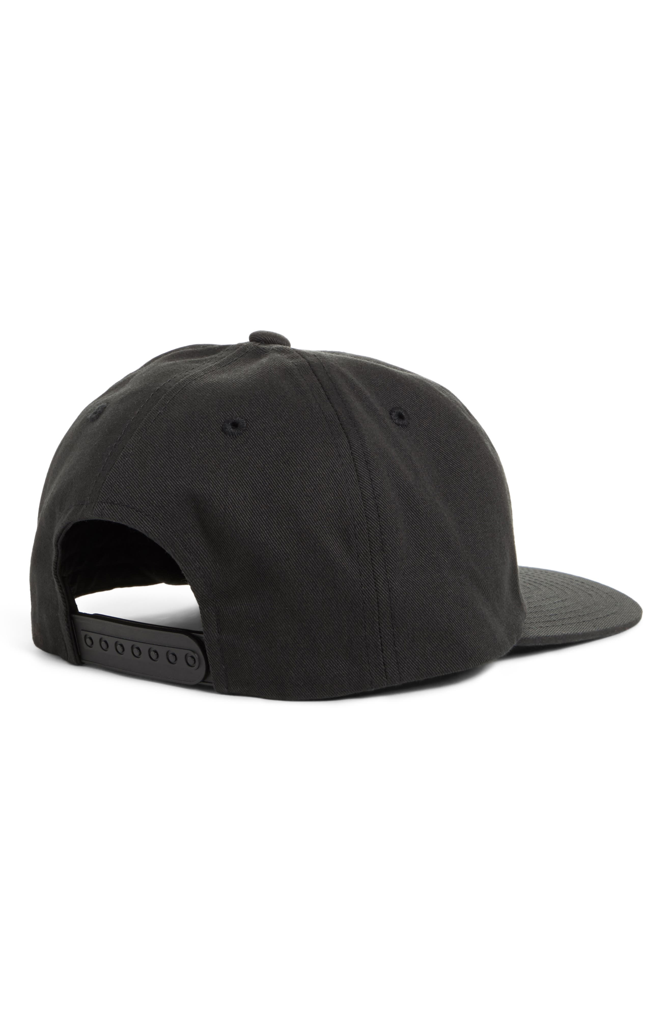 Poppy Adjustable Cap,                             Alternate thumbnail 2, color,                             Tnf Black