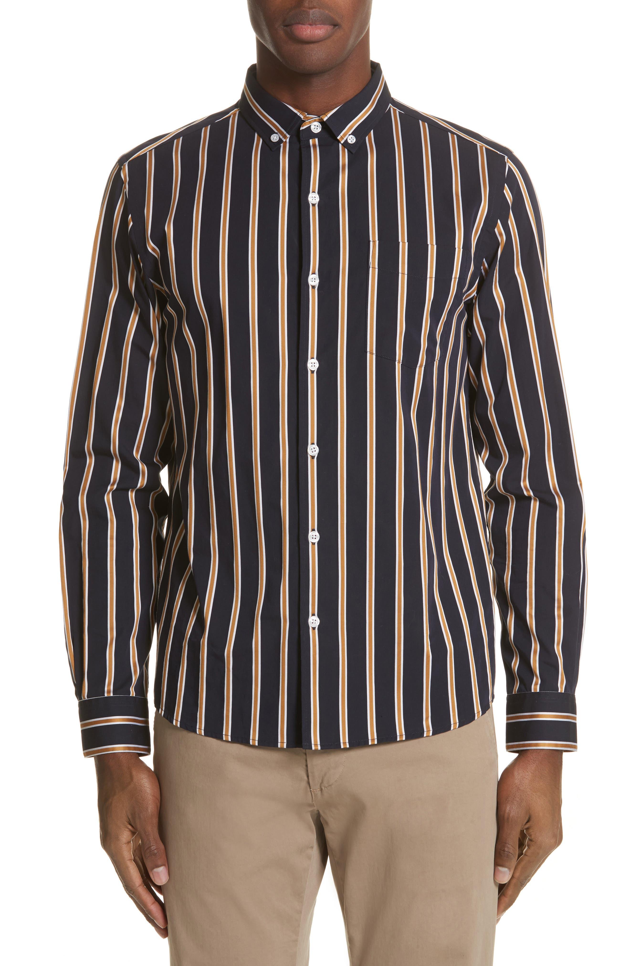 Alternate Image 1 Selected - Saturdays NYC Crosby Satin Stripe Shirt