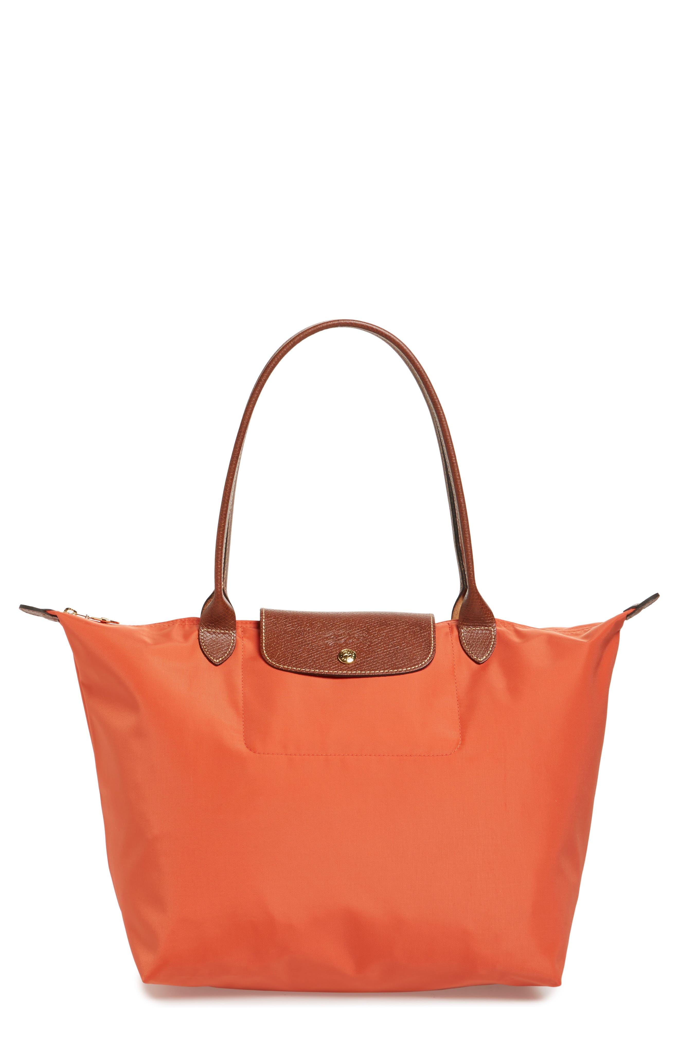 'Large Le Pliage' Tote,                         Main,                         color, Orange