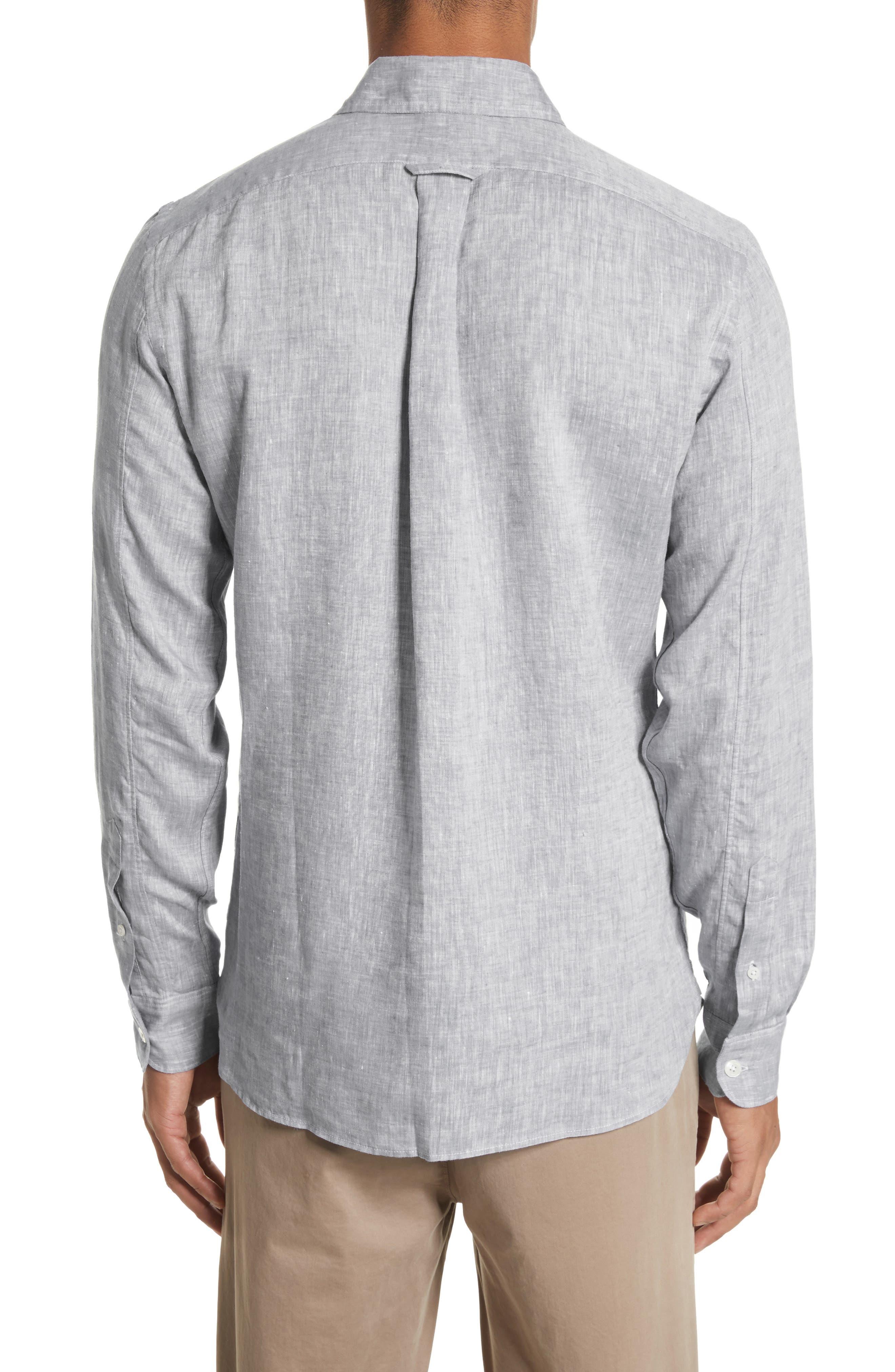 Linen Shirt,                             Alternate thumbnail 2, color,                             Light Grey