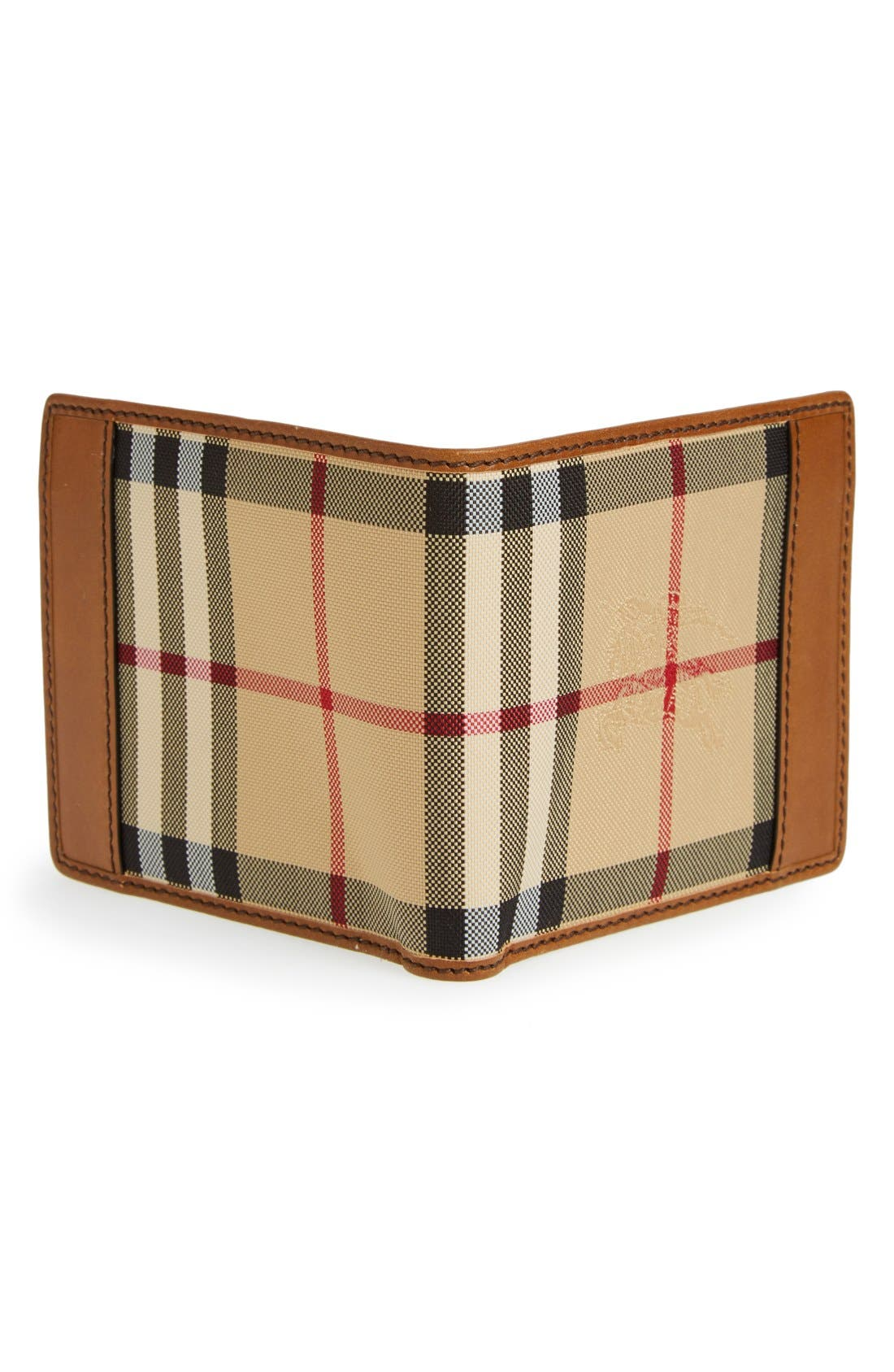Horseferry Check Billfold Wallet,                             Alternate thumbnail 3, color,                             Tan