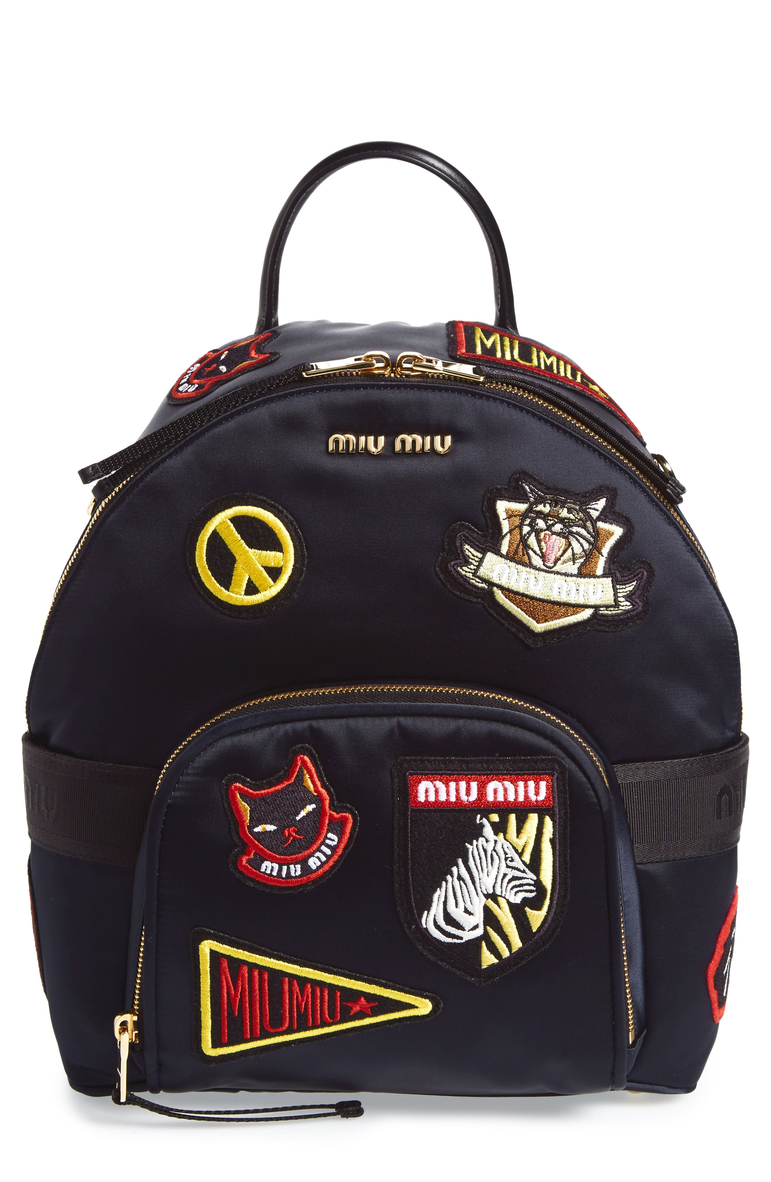 Patch Backpack,                         Main,                         color, Navy