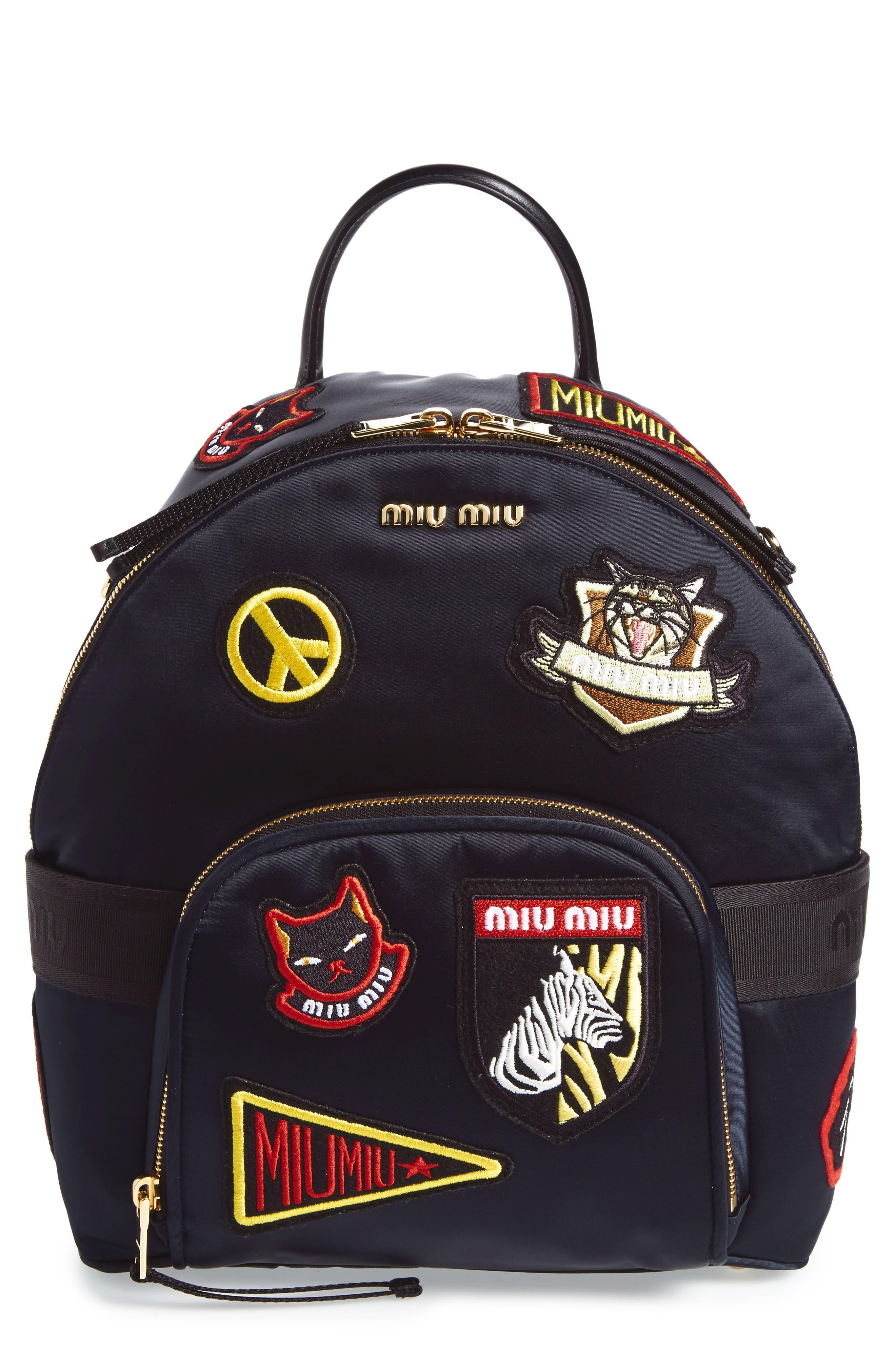Miu Miu Patch Backpack