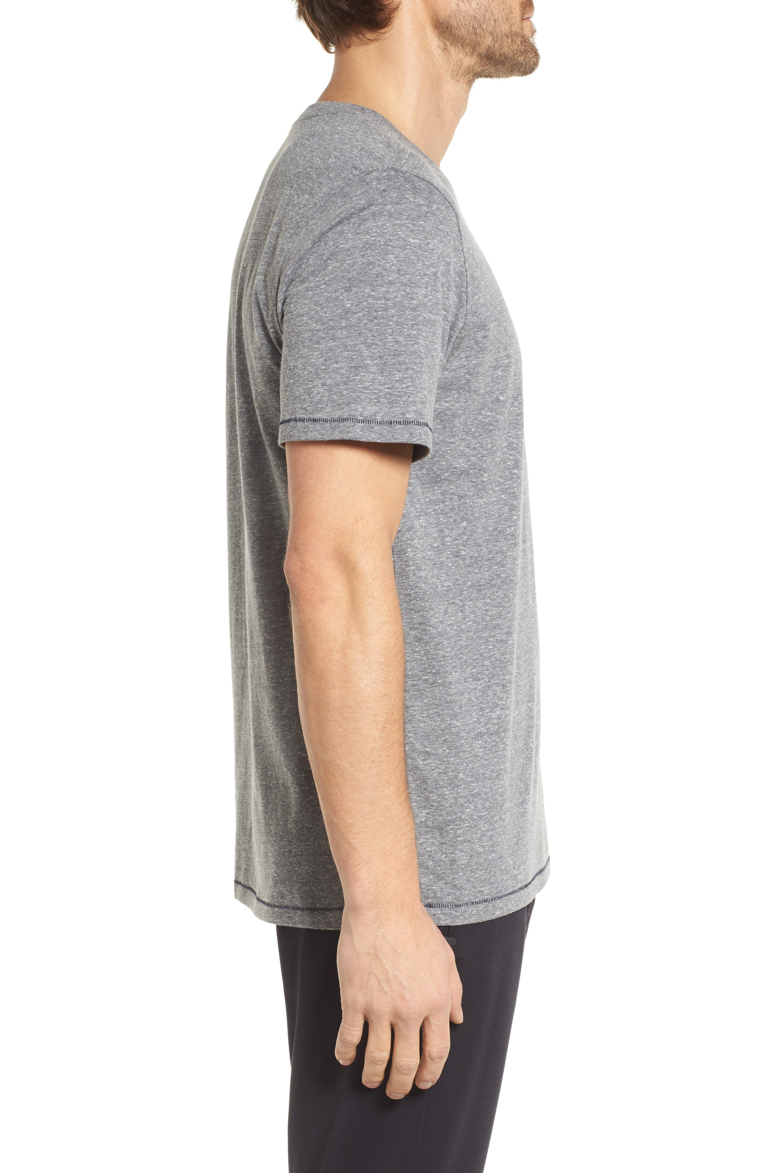 Benjamin Crewneck T-Shirt,                             Alternate thumbnail 3, color,                             Grey Heather