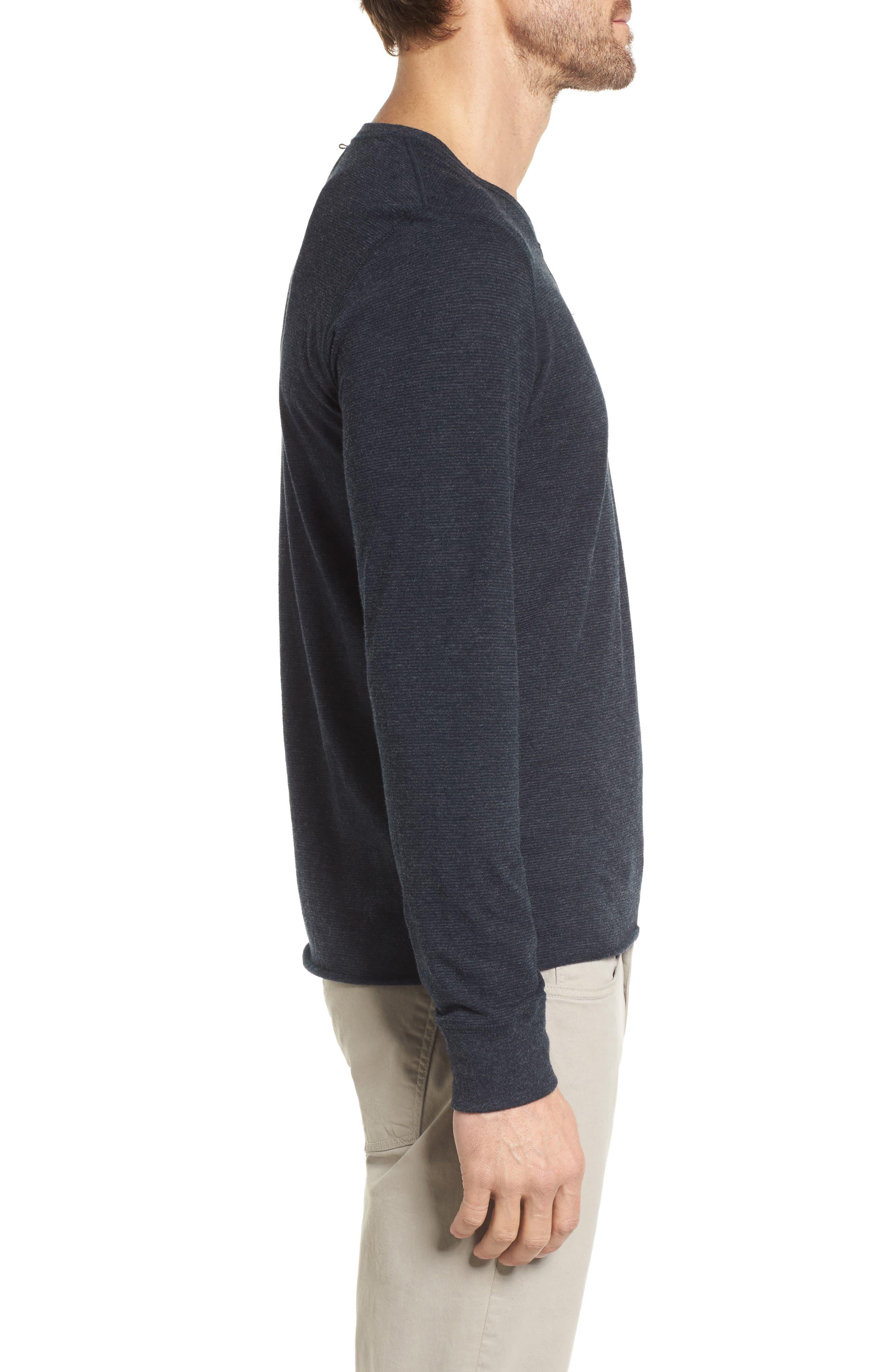 Dylan Stripe T-Shirt,                             Alternate thumbnail 3, color,                             Carbon Blue