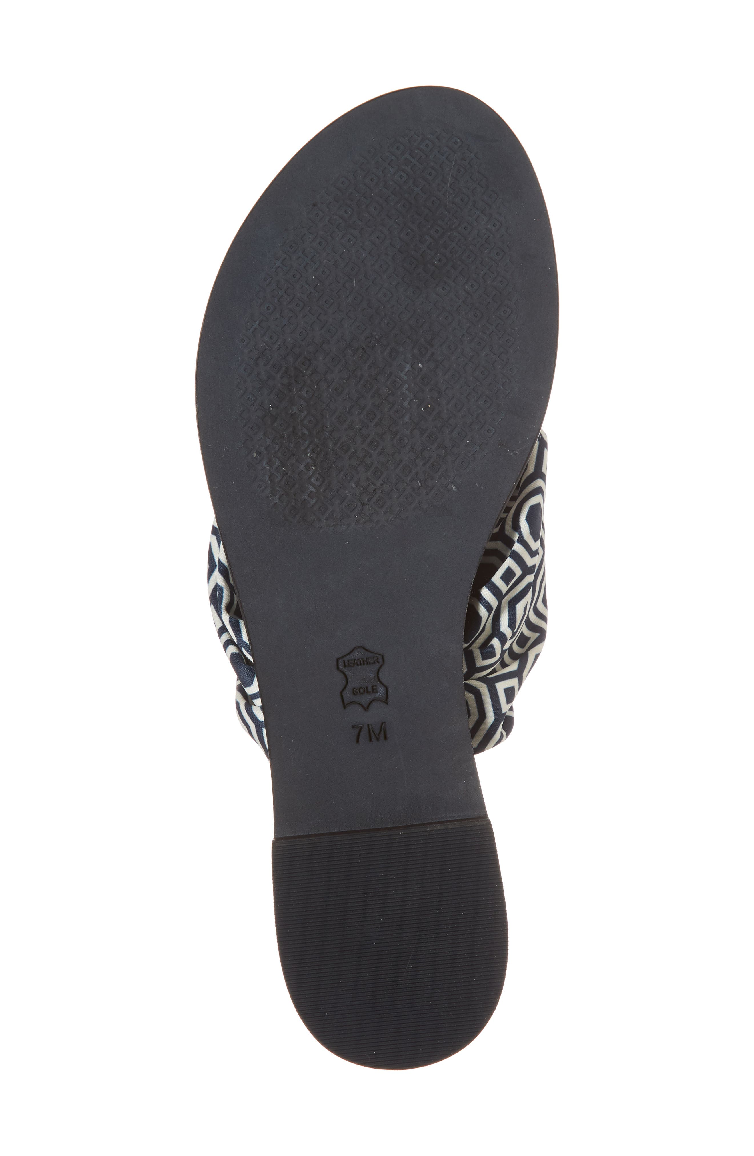 Carson Flip Flop,                             Alternate thumbnail 6, color,                             Tory Navy Octagon Square