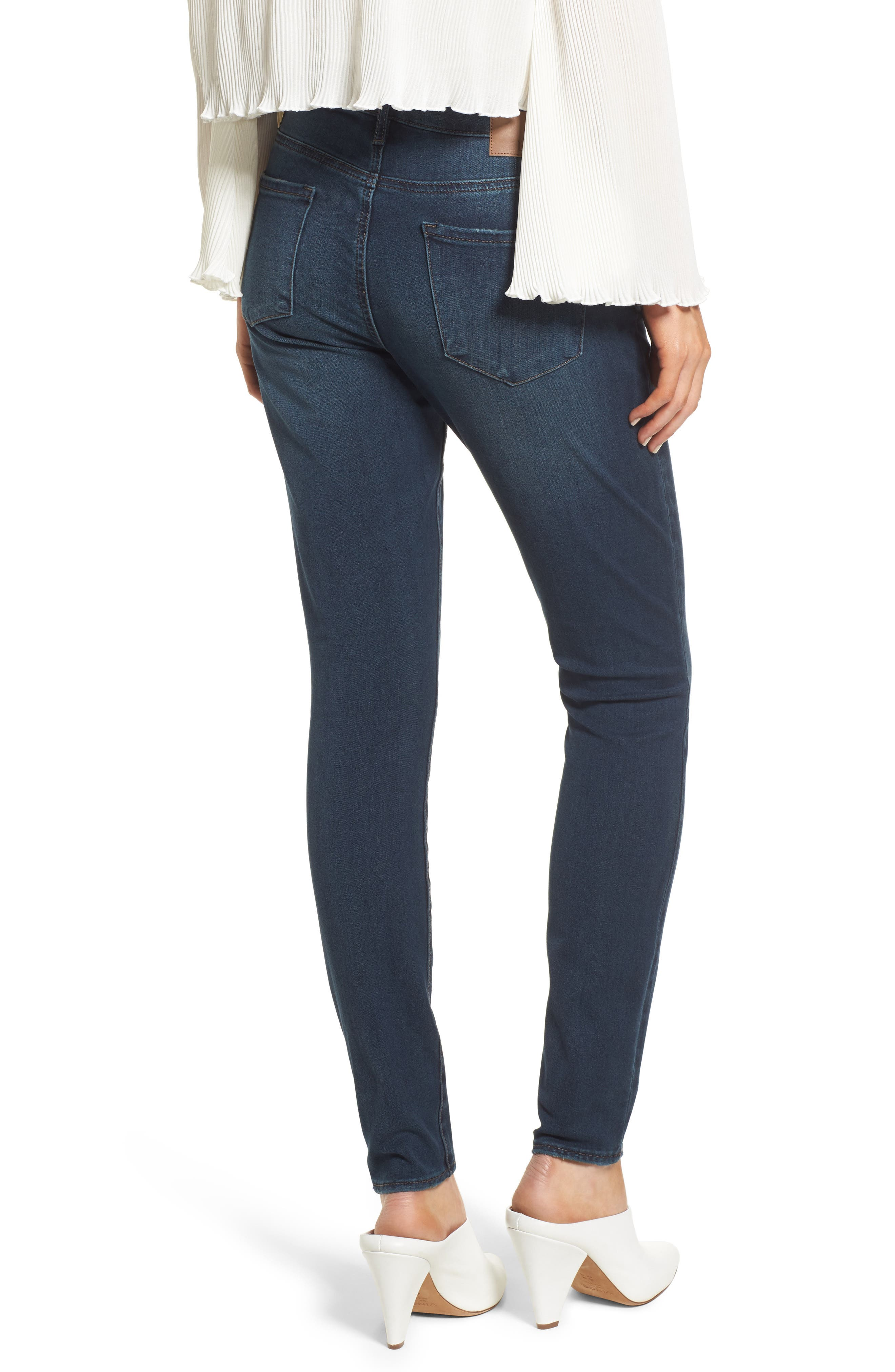Alternate Image 2  - Leith Skinny Jeans (Medium Wash)