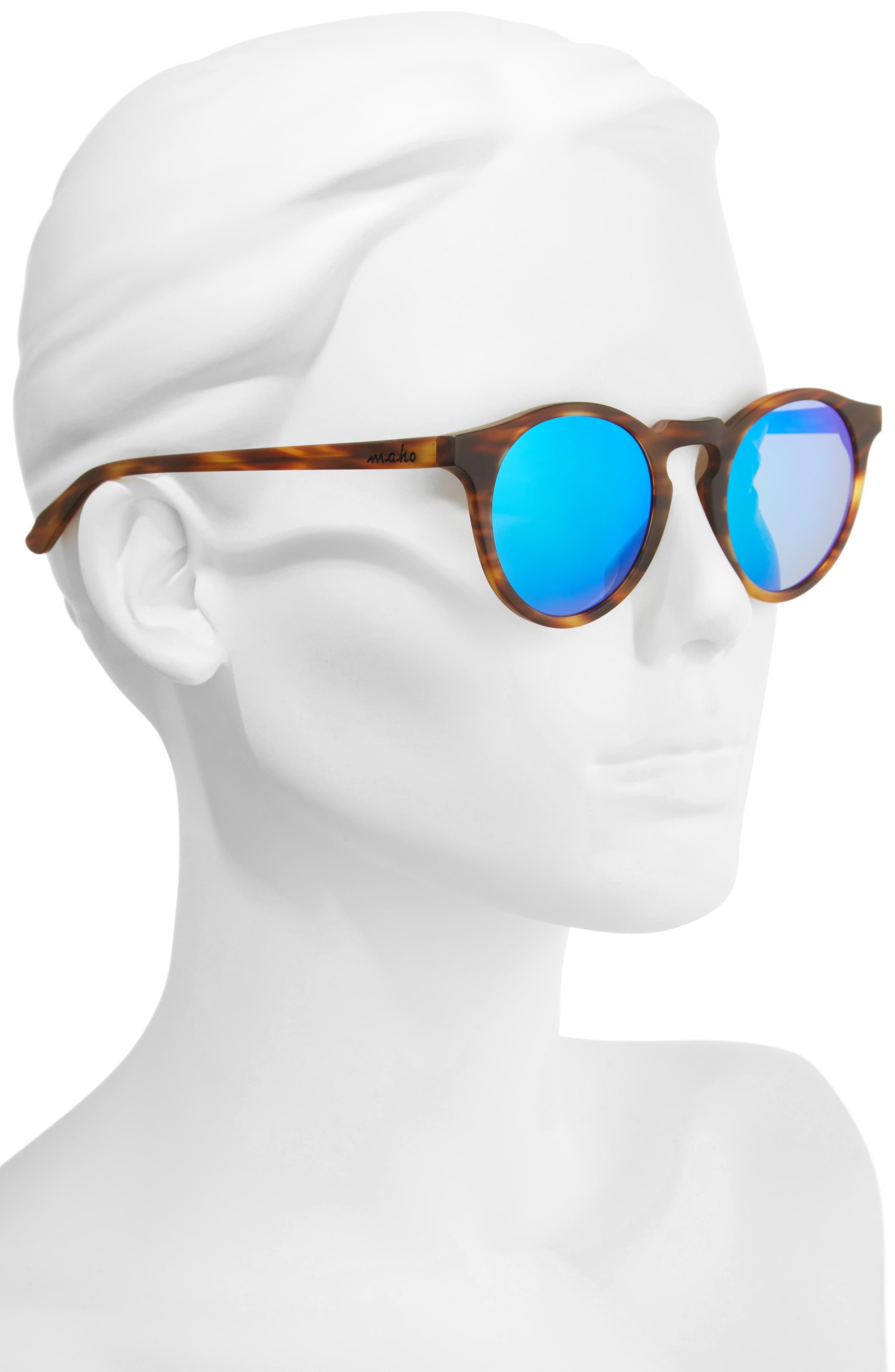 Alternate Image 2  - Maho Stockholm 48mm Polarized Round Sunglasses