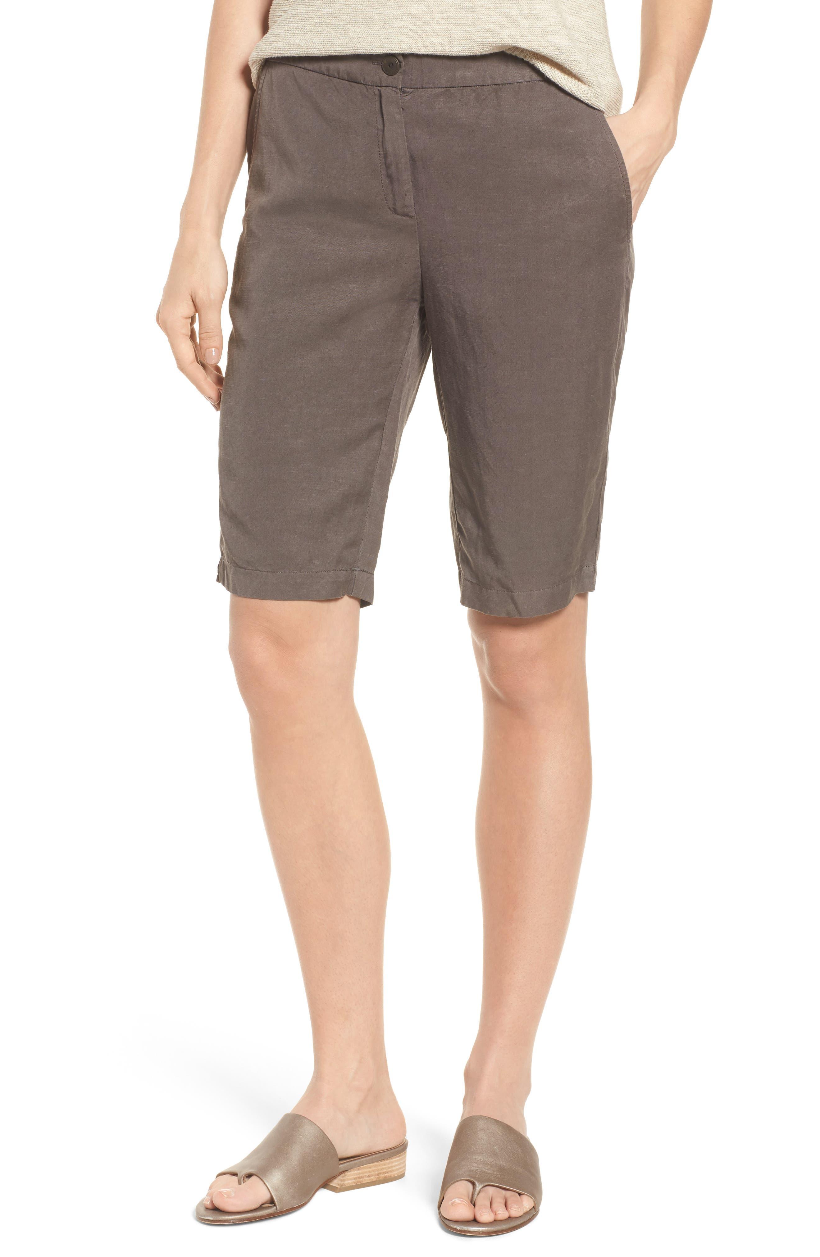 Eileen Fisher Tencel® Lyocell & Linen Bermuda Shorts