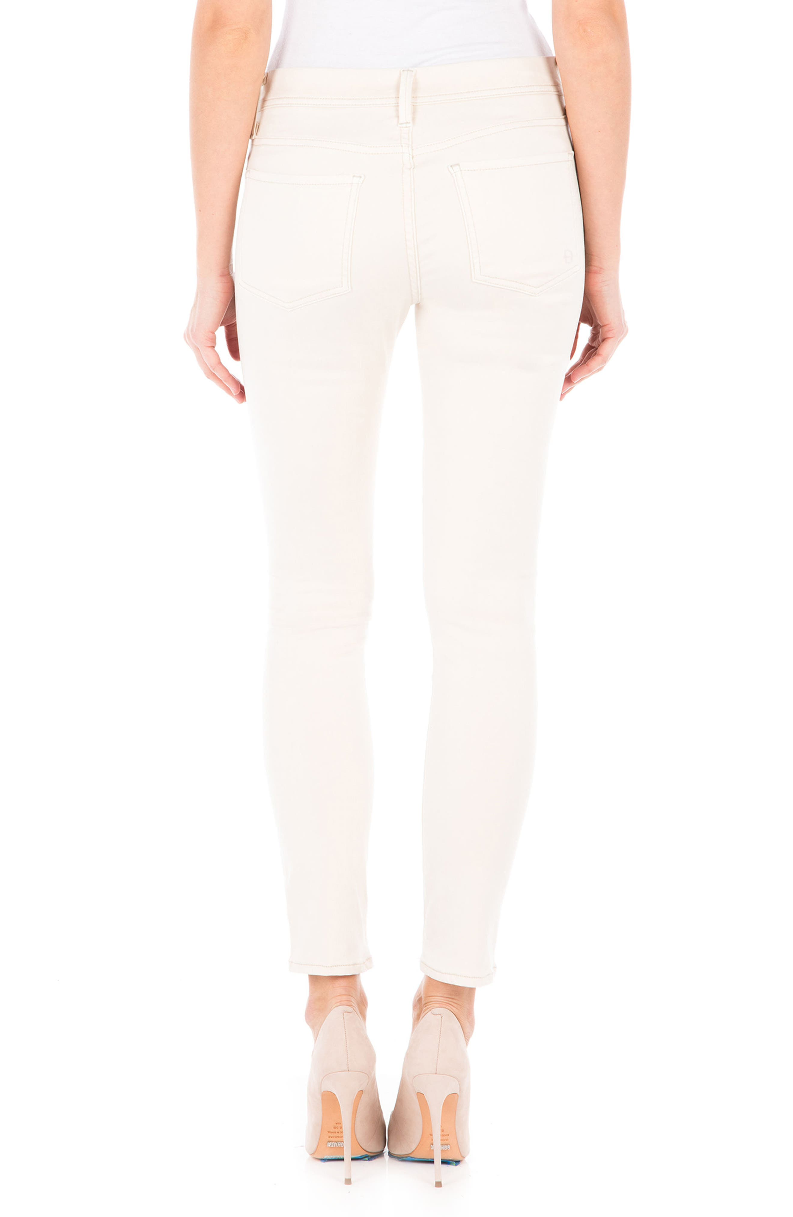 Alternate Image 2  - Fidelity Denim Sola Skinny Jeans (White Rabbit)