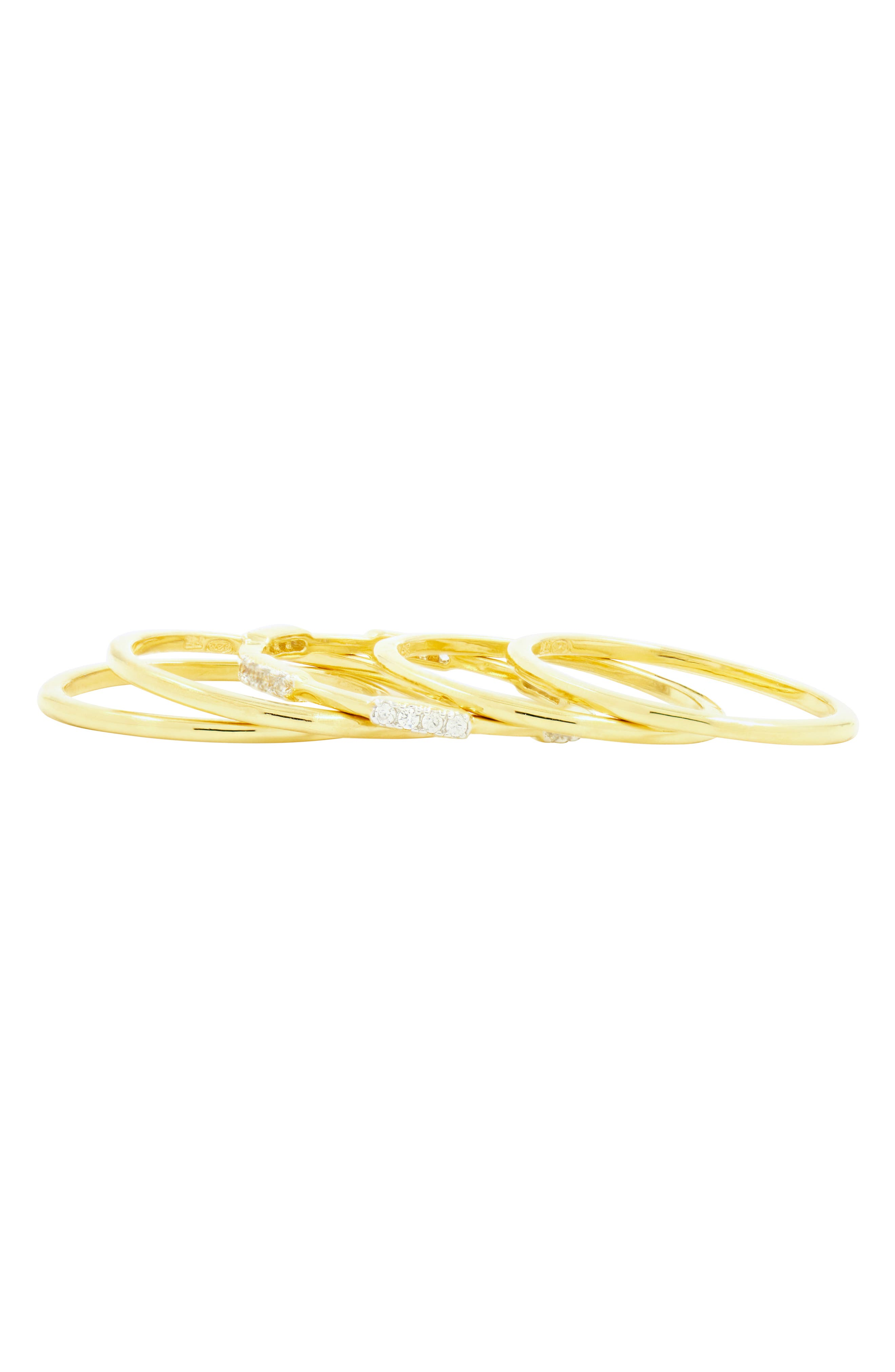 Radiance Stacking Ring,                             Alternate thumbnail 3, color,                             Silver/ Gold