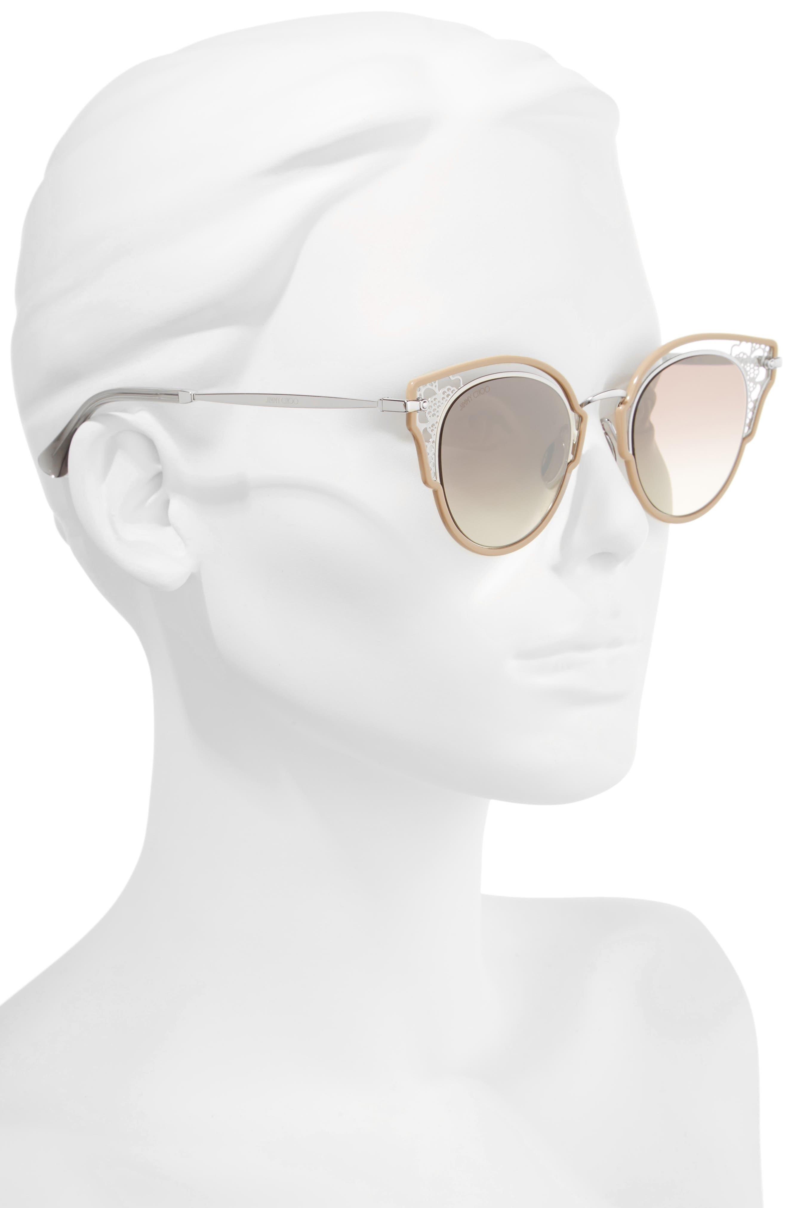 Dhelias 48mm Cat Eye Sunglasses,                             Alternate thumbnail 2, color,                             Nude Palladium