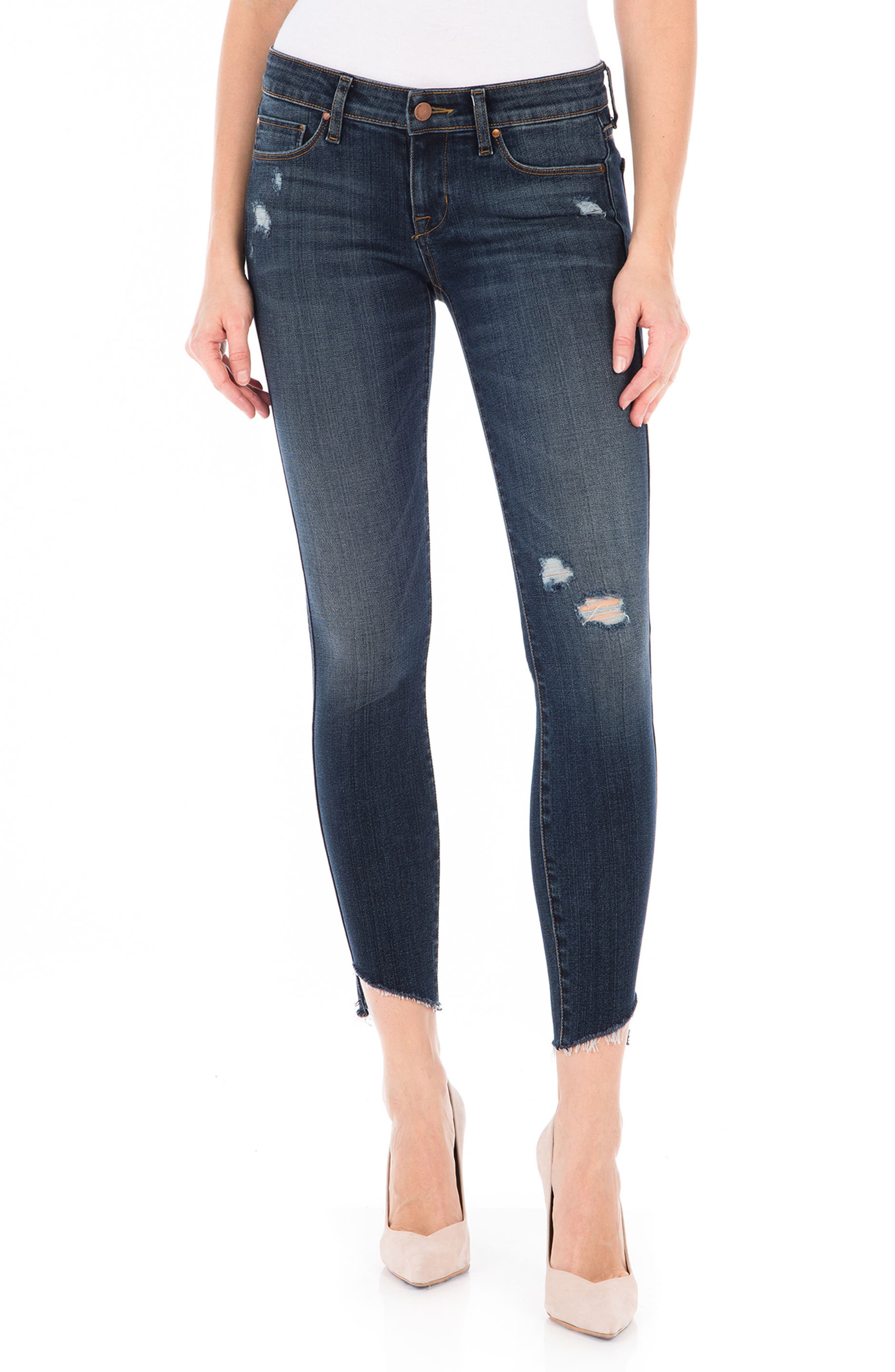 Mila Crop Skinny Jeans,                             Main thumbnail 1, color,                             Refinery Blue