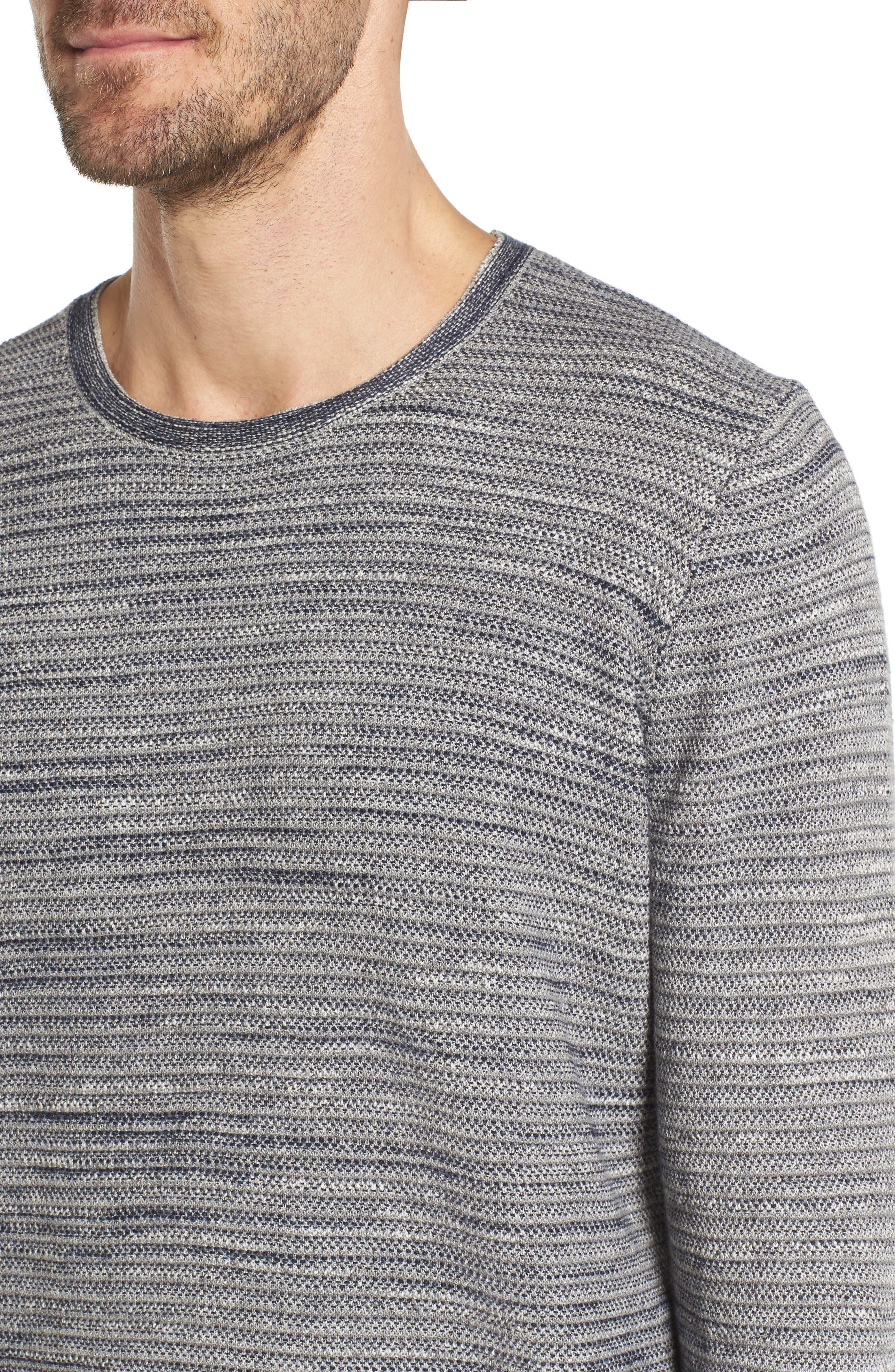 Alternate Image 4  - Grayers Bird's Eye Cotton Jacquard Sweater